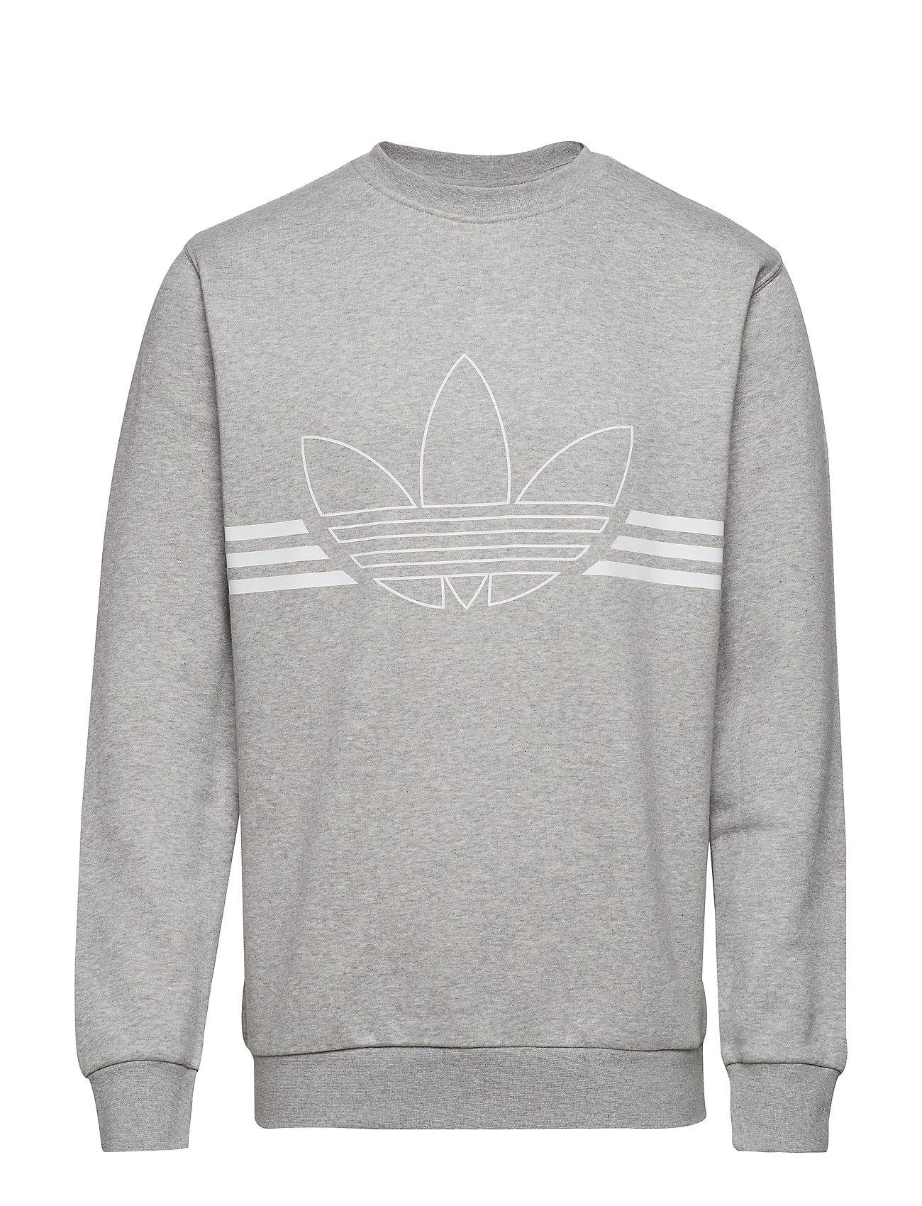 adidas Originals OUTLINE CRW FLC - MGREYH