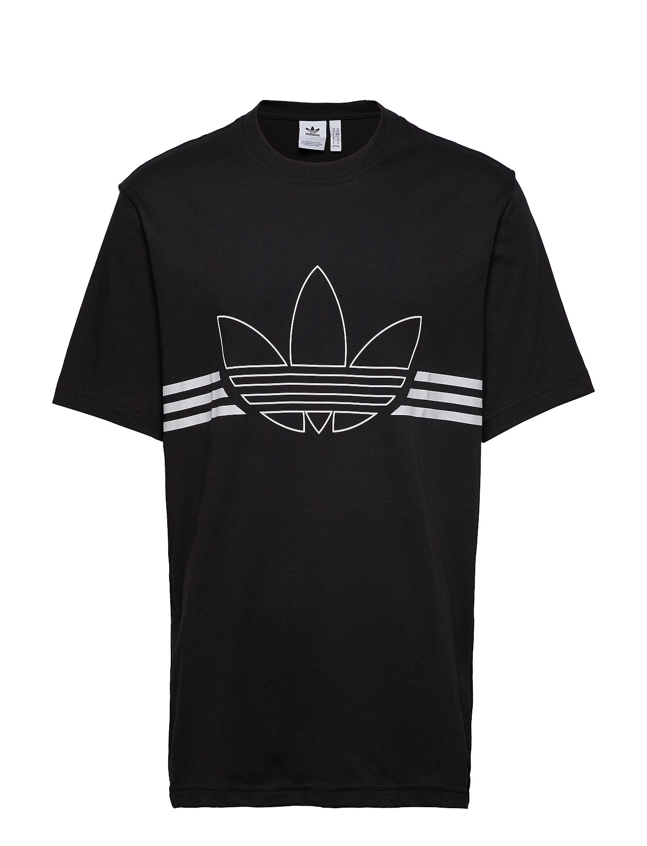 adidas Originals OUTLINE TRF TEE - BLACK