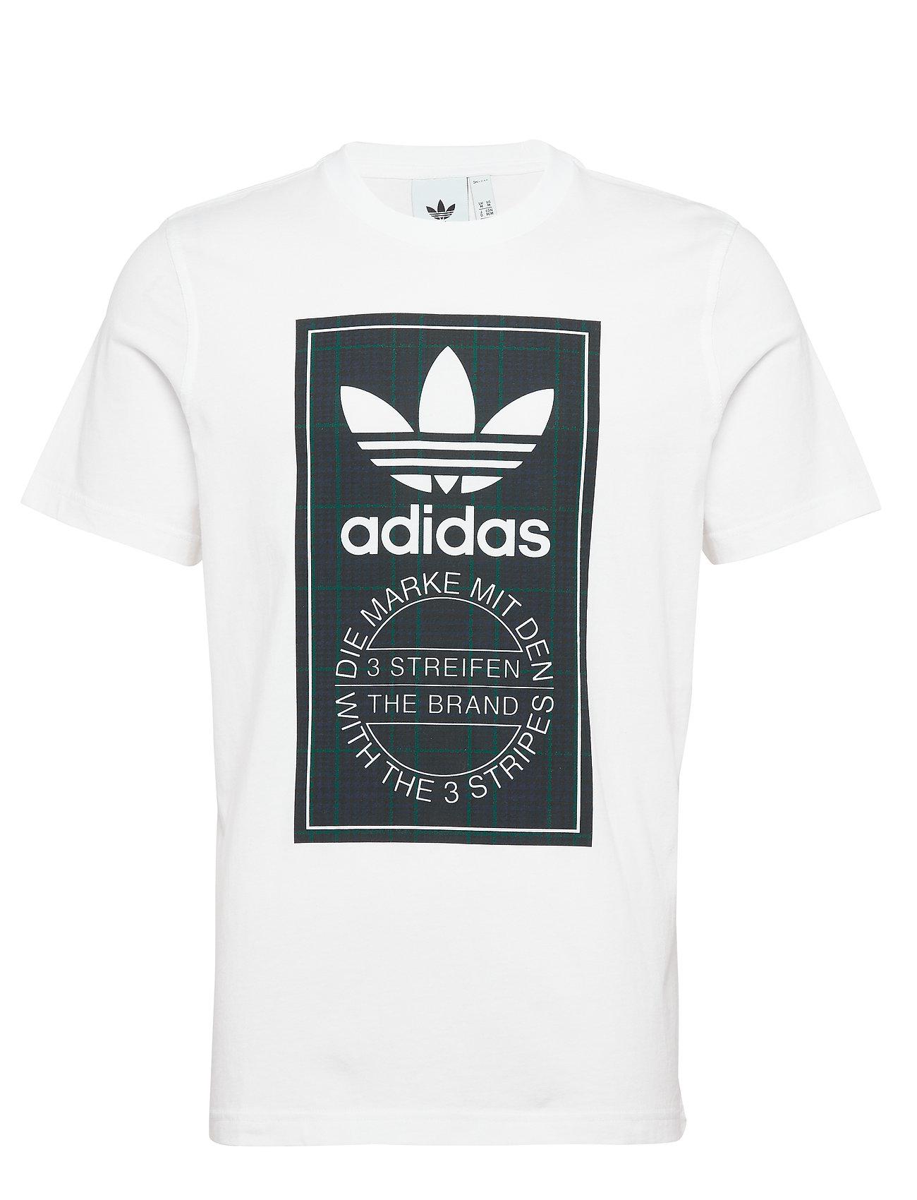 adidas Originals TARTAN TONGUE T - WHITE
