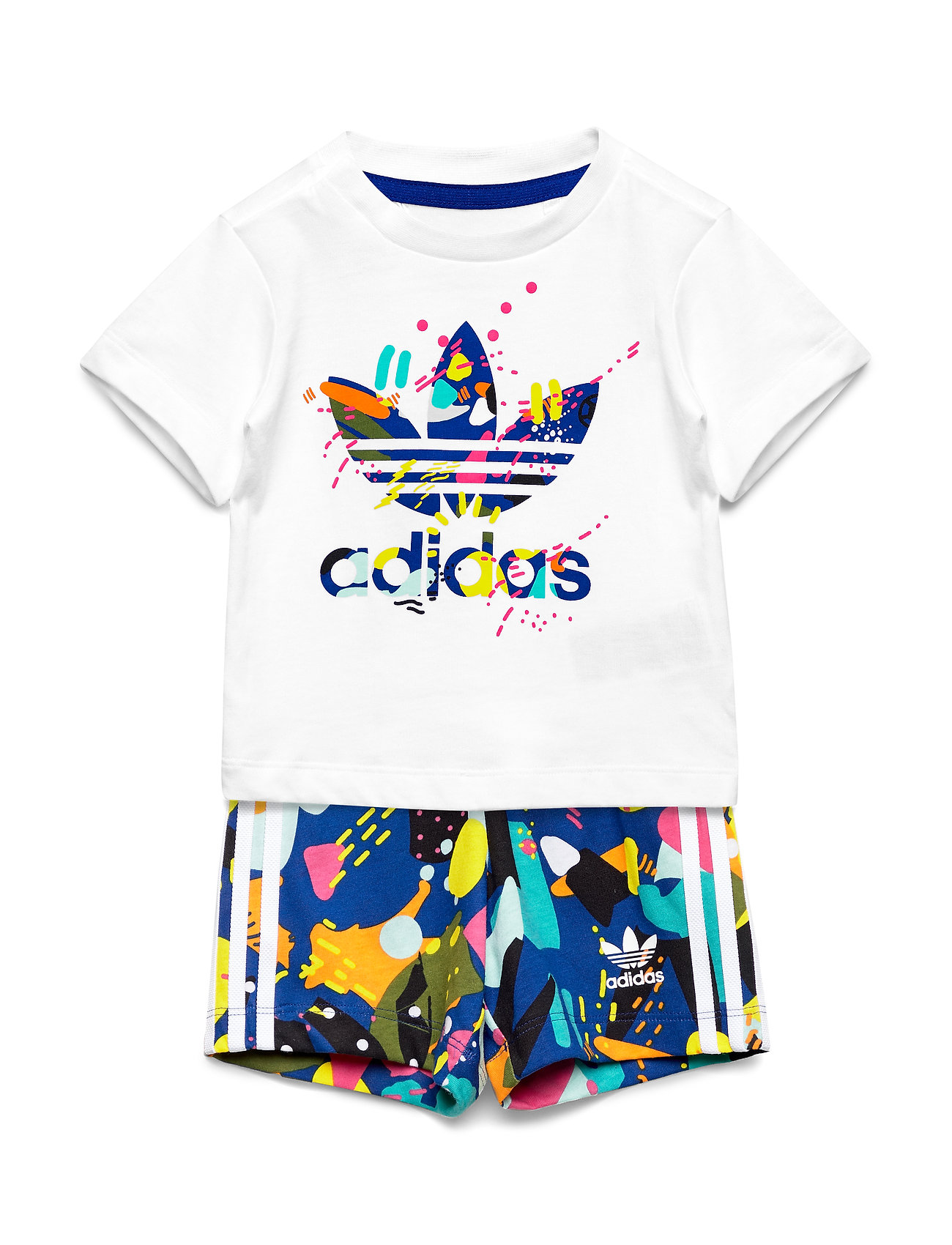 adidas Originals SHORT SET - WHITE/MULTCO