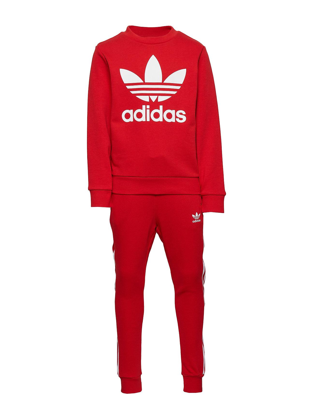 adidas bukser sort rød, Adidas originals longsleeve
