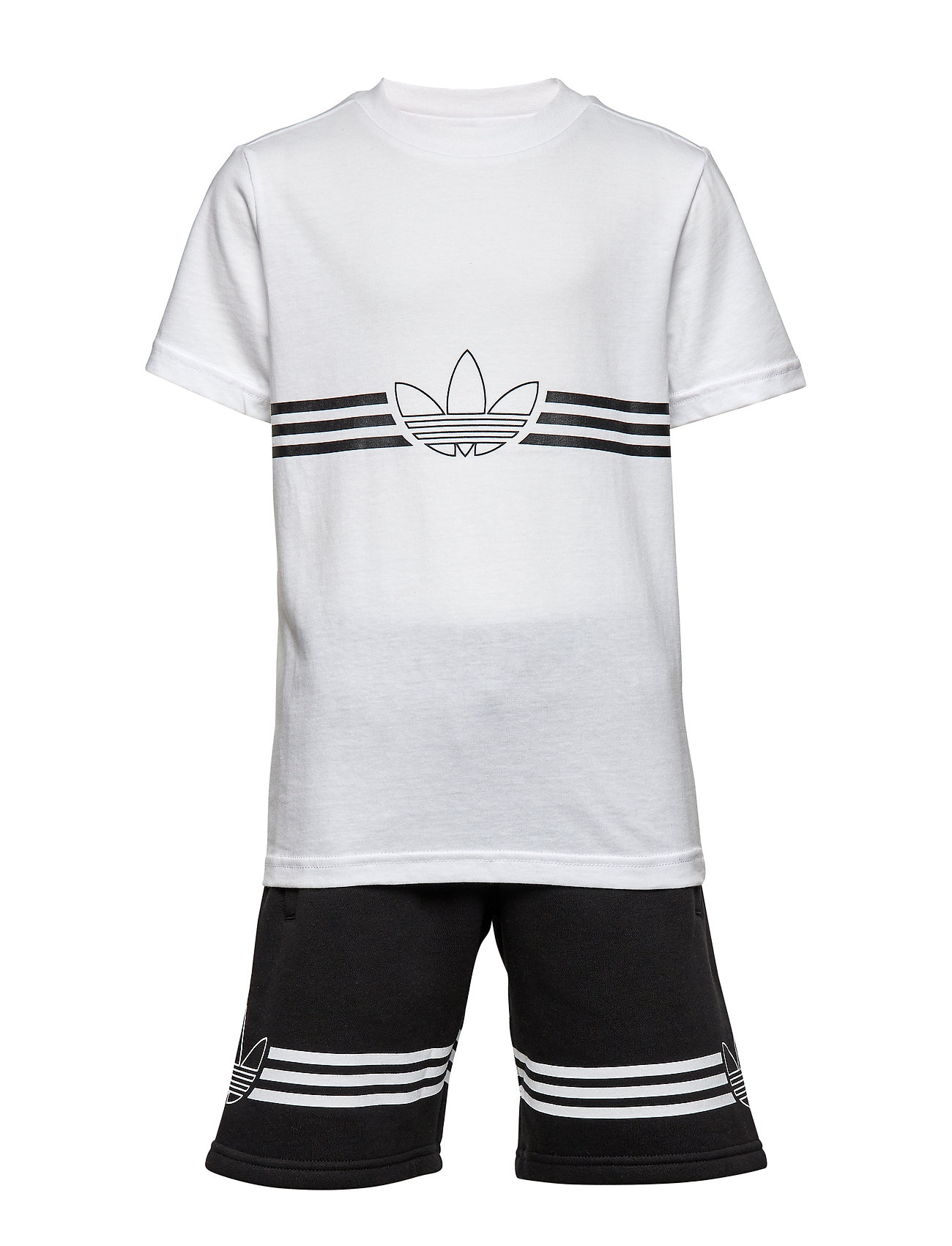 adidas Originals OUTLINE TEE SET - WHITE/BLACK