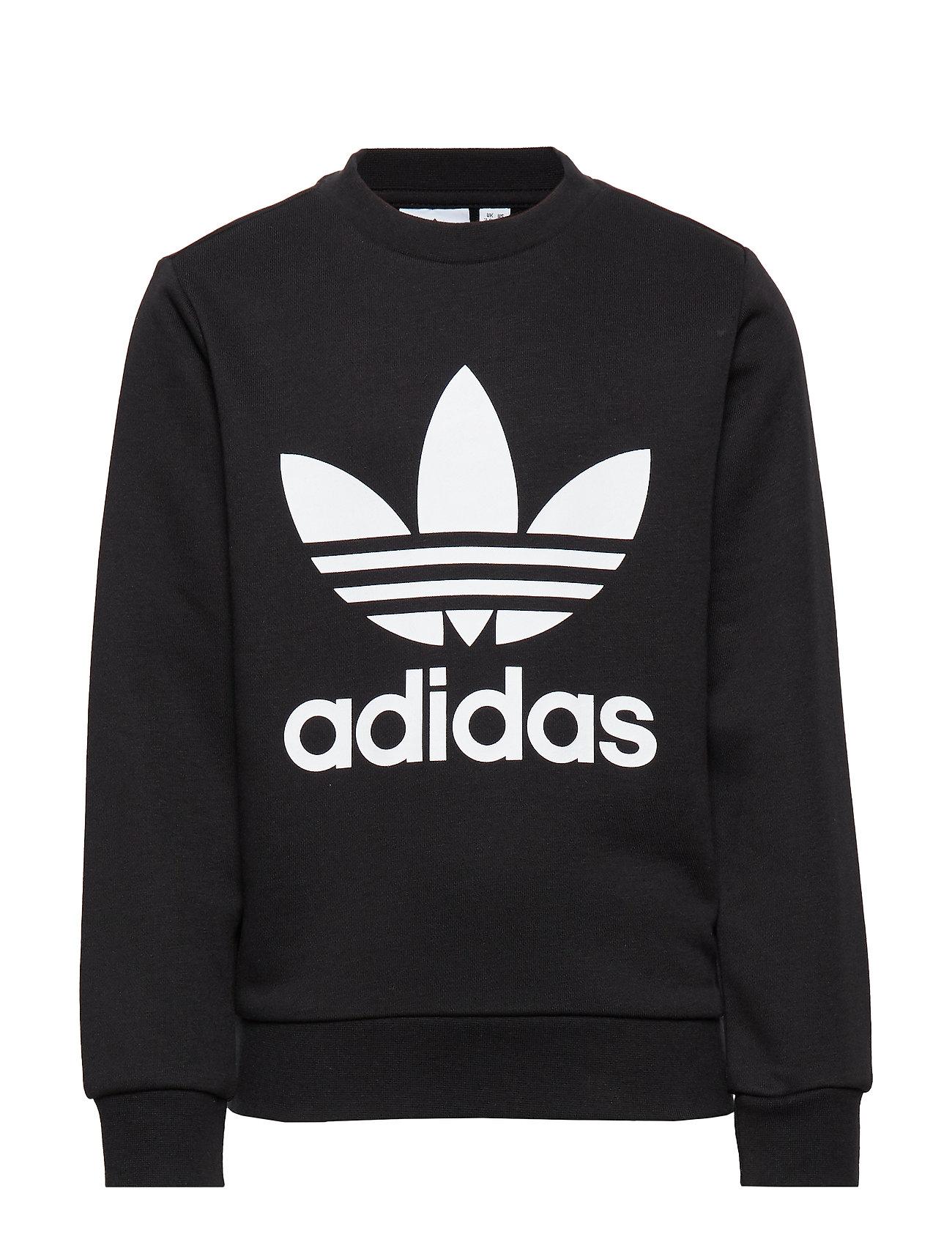 adidas Originals TREFOIL CREW - BLACK/WHITE