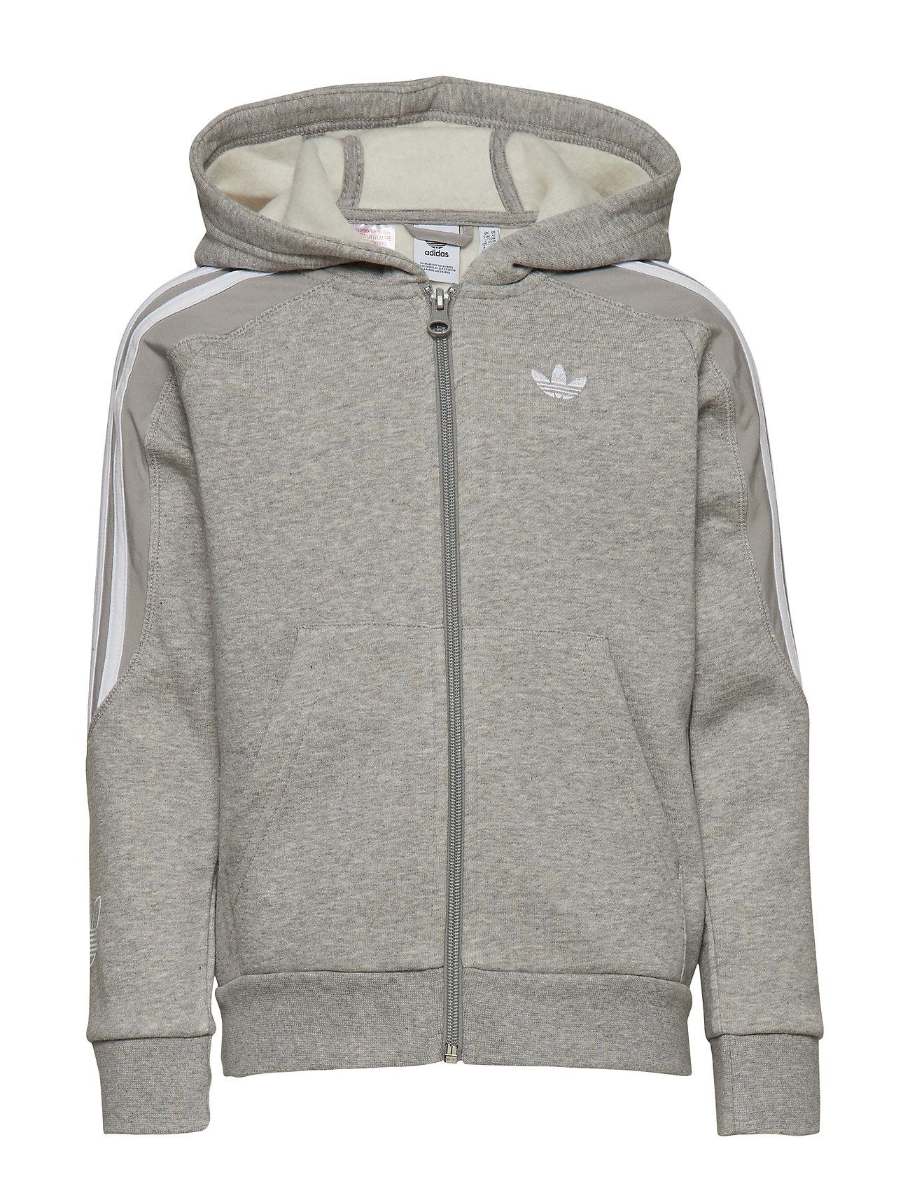 adidas Originals OUTLINE HOODIE - MGREYH/WHITE