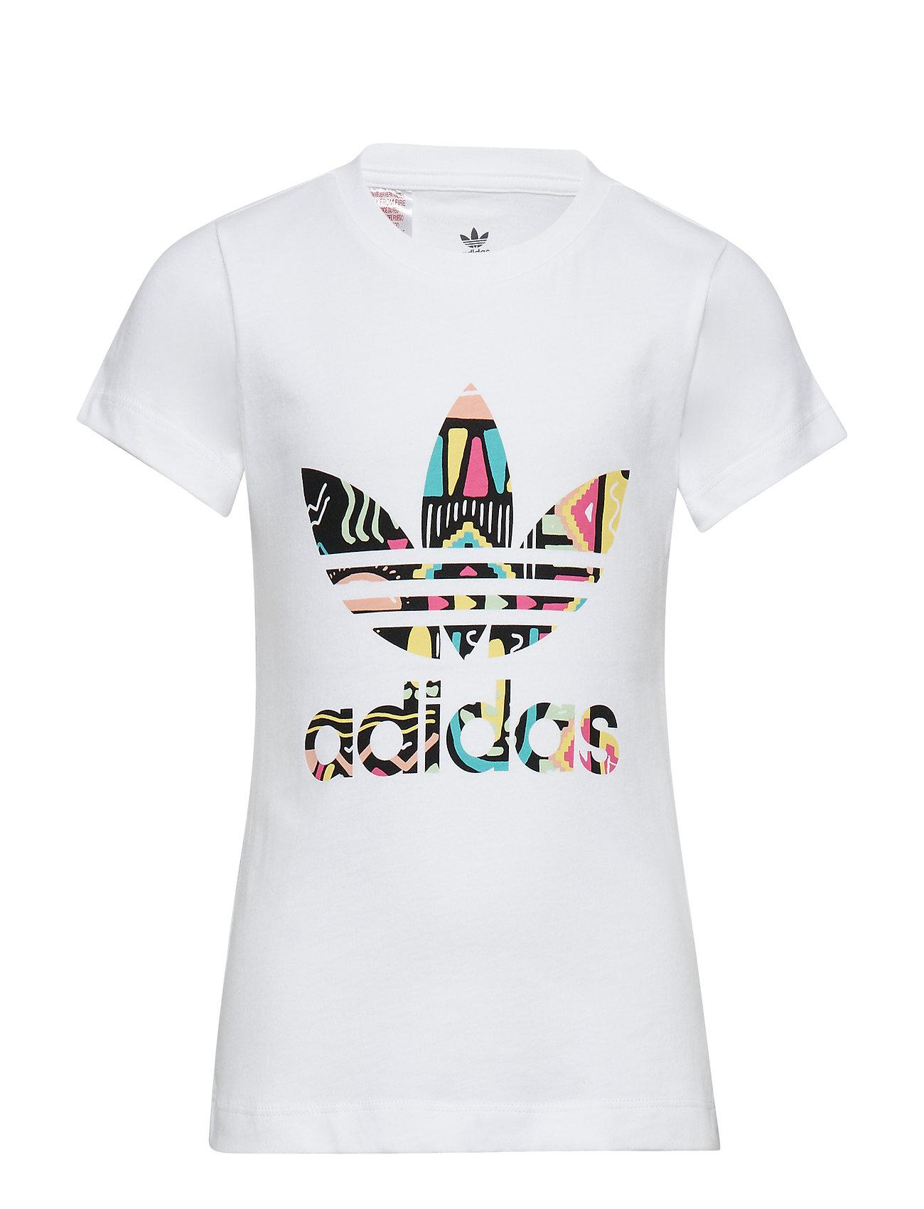 adidas Originals SLIM TEE - WHITE/MULTCO