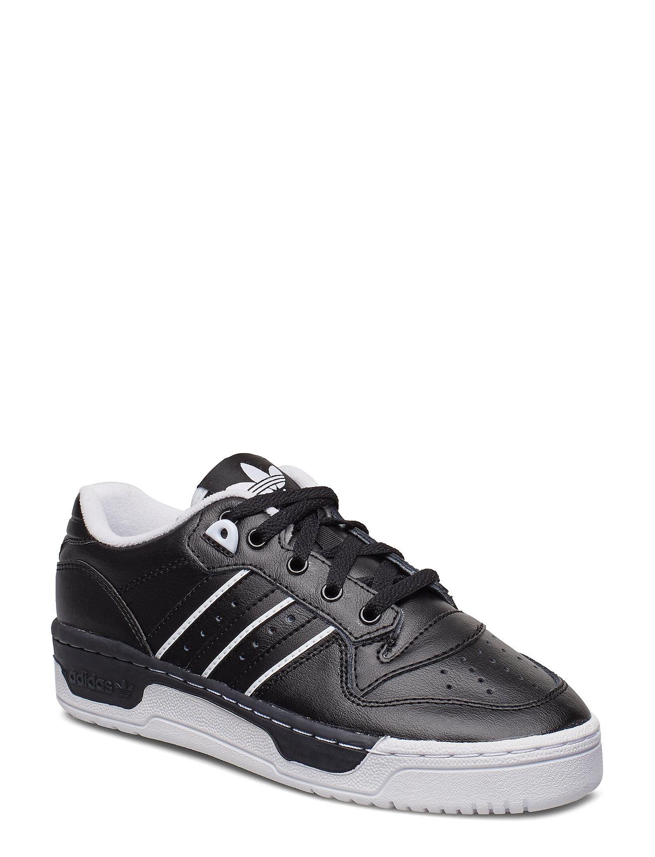 adidas Originals RIVALRY LOW J - CBLACK/CBLACK/FTWWHT