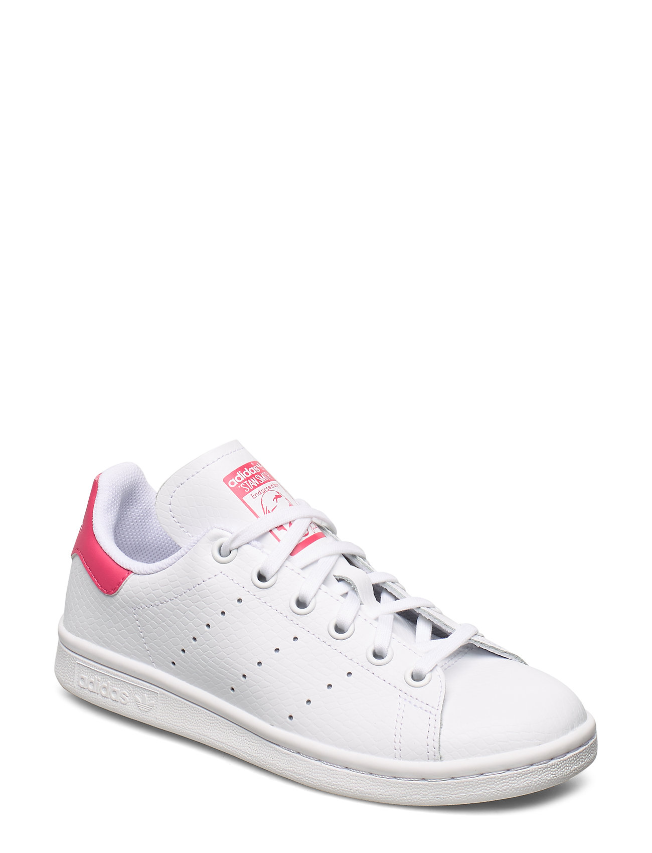 adidas Originals STAN SMITH J - FTWWHT/FTWWHT/REAPNK