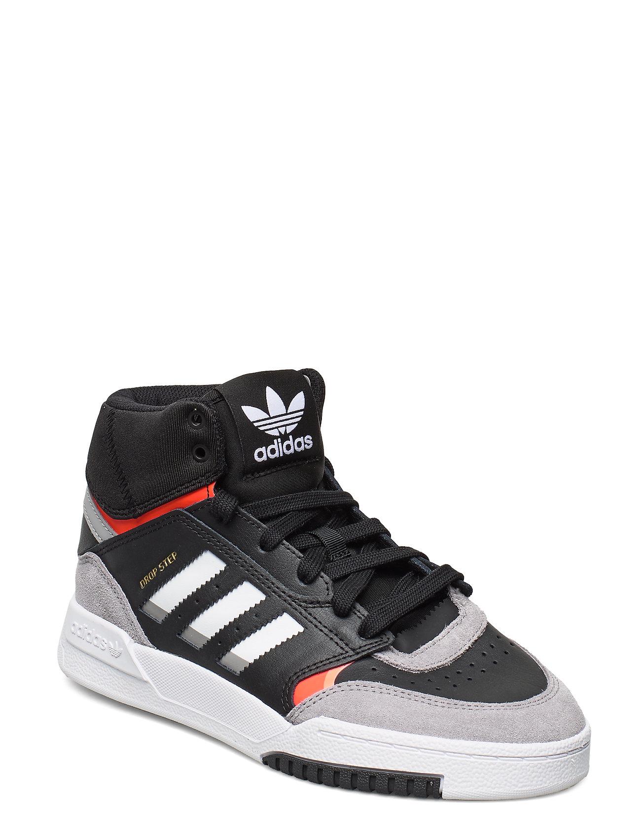 adidas Originals DROP STEP J - CBLACK/LGRANI/SOLRED