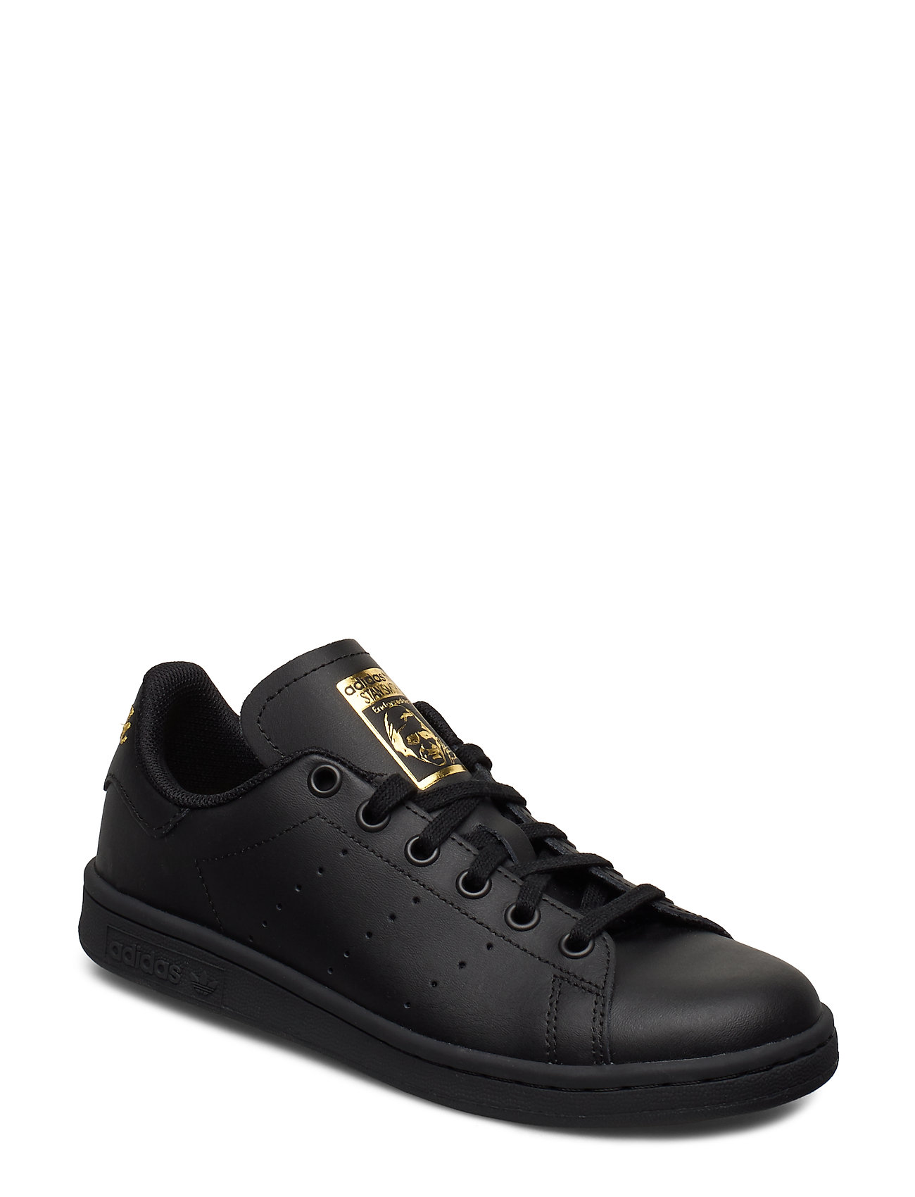 adidas Originals STAN SMITH J - CBLACK/CBLACK/GOLDMT