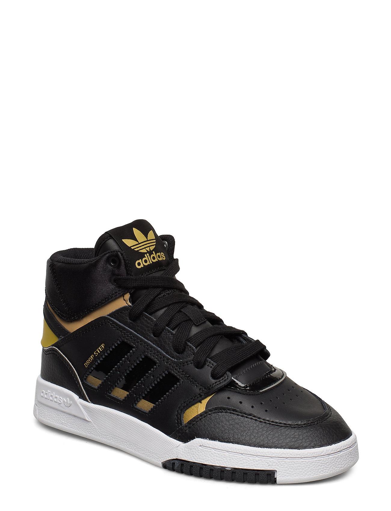 adidas Originals DROP STEP J - CBLACK/GOLDMT/FTWWHT