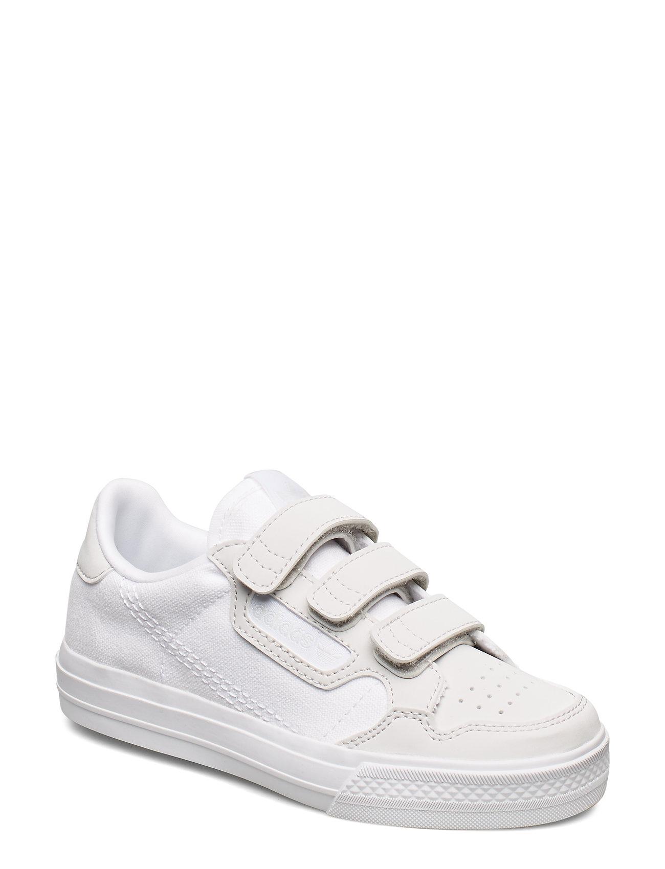 adidas Originals CONTINENTAL VULC CF C - FTWWHT/FTWWHT/GREONE
