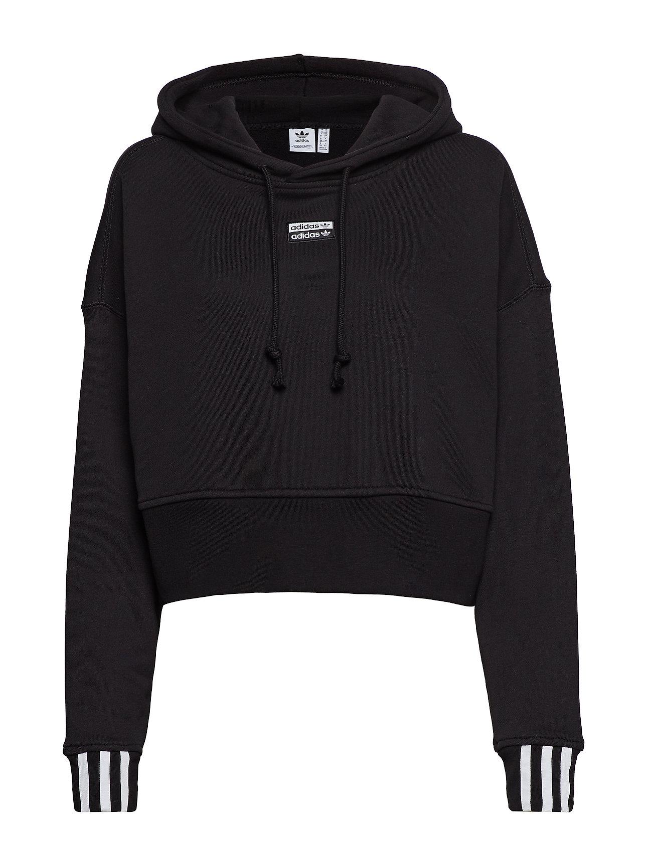 adidas Originals VOCAL CROP HOOD - BLACK