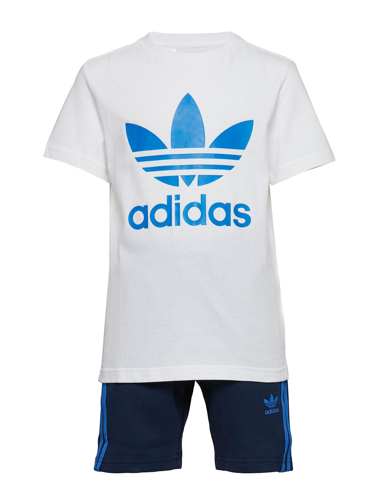 adidas Originals SHORT TEE SET - WHITE/BLUBIR