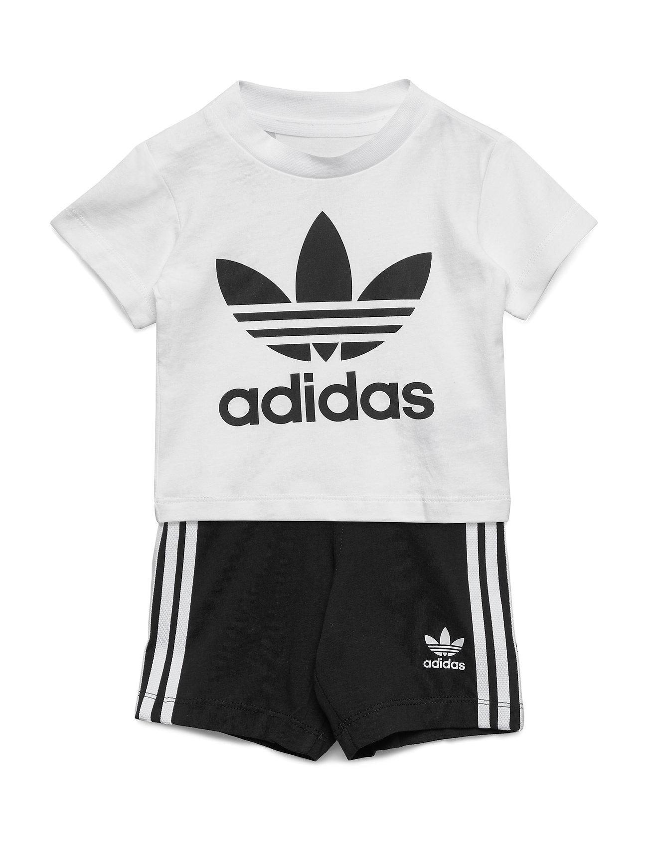 adidas Originals SHORT TEE SET - WHITE/BLACK