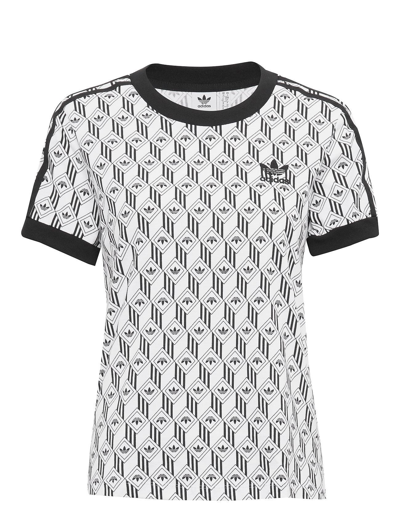 adidas Originals 3 STRIPES TEE - BLACK/WHITE