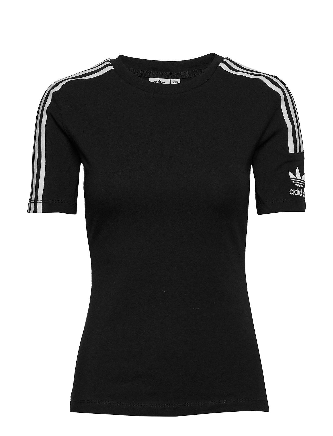 adidas Originals TIGHT TEE - BLACK/WHITE