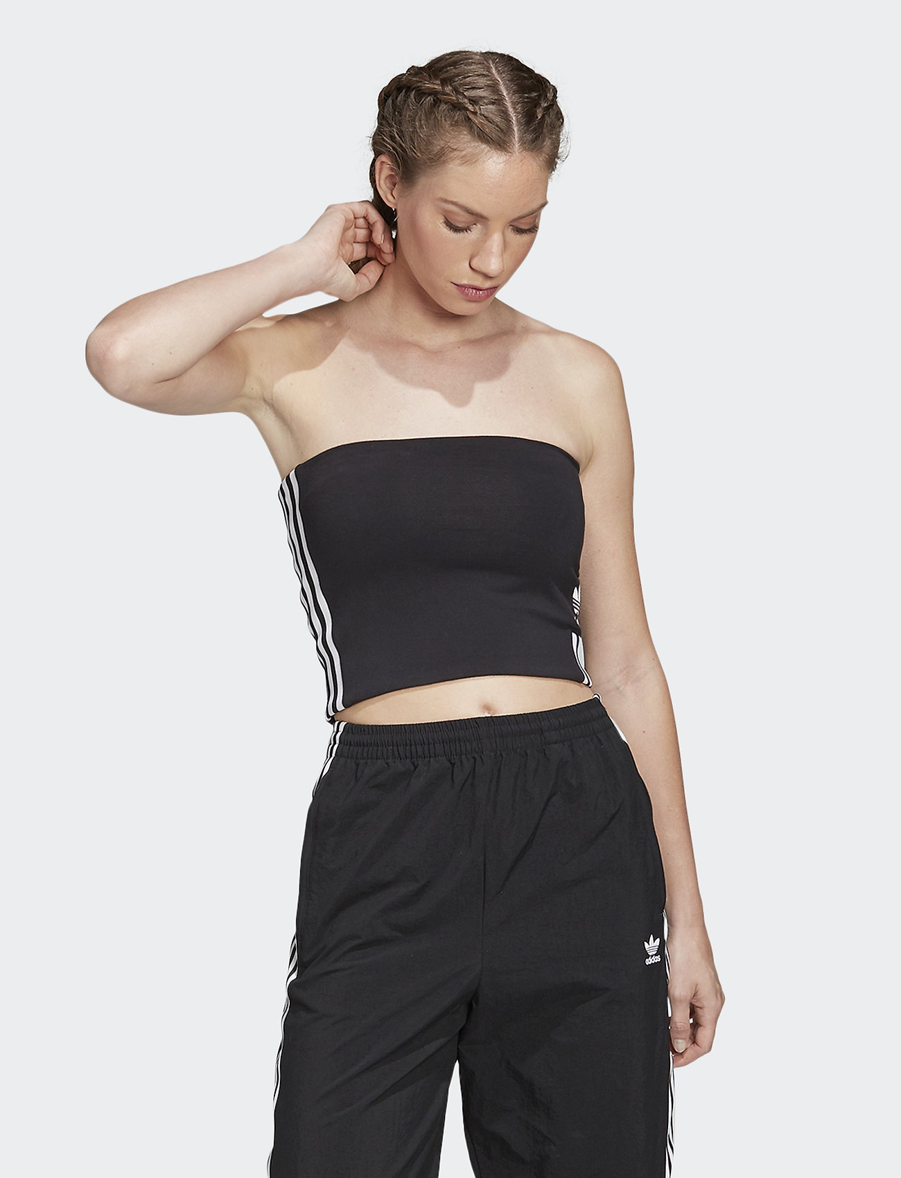 adidas Originals - TUBE TOP - crop-tops - black/white - 0