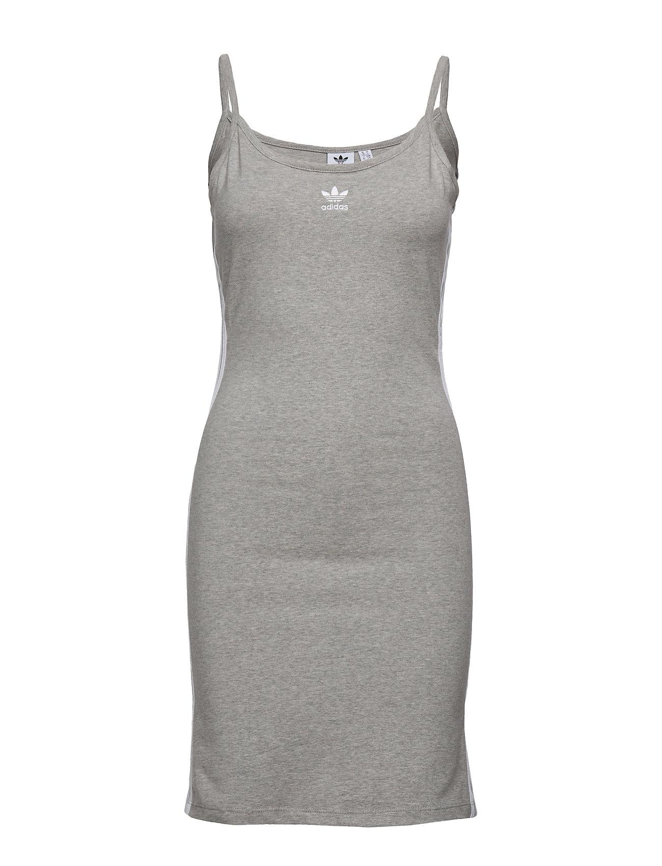 adidas Originals TANK DRESS - MGREYH/WHITE