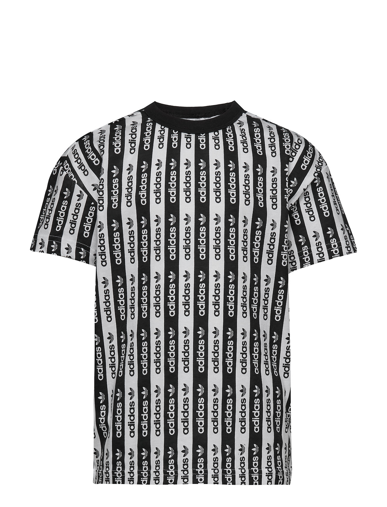 adidas Originals TEE AOP - WHITE/BLACK