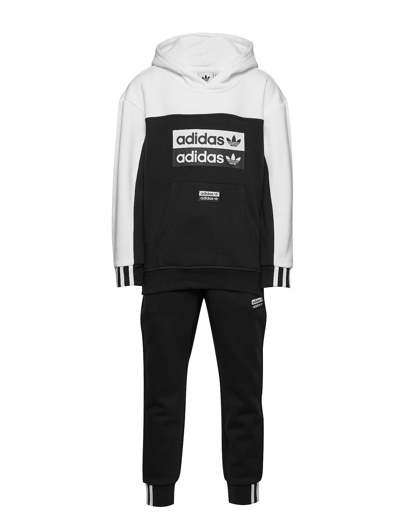 adidas Originals HOODIE SET - BLACK/WHITE