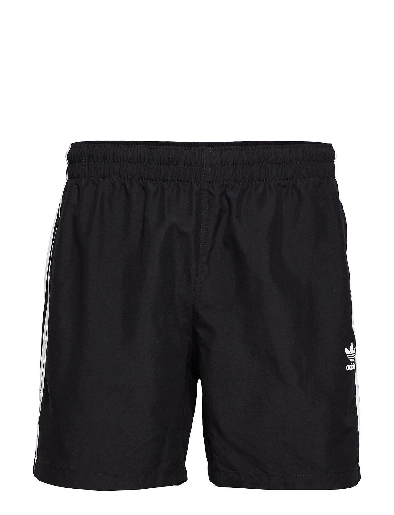 adidas Originals 3 STRIPE SWIMS - BLACK