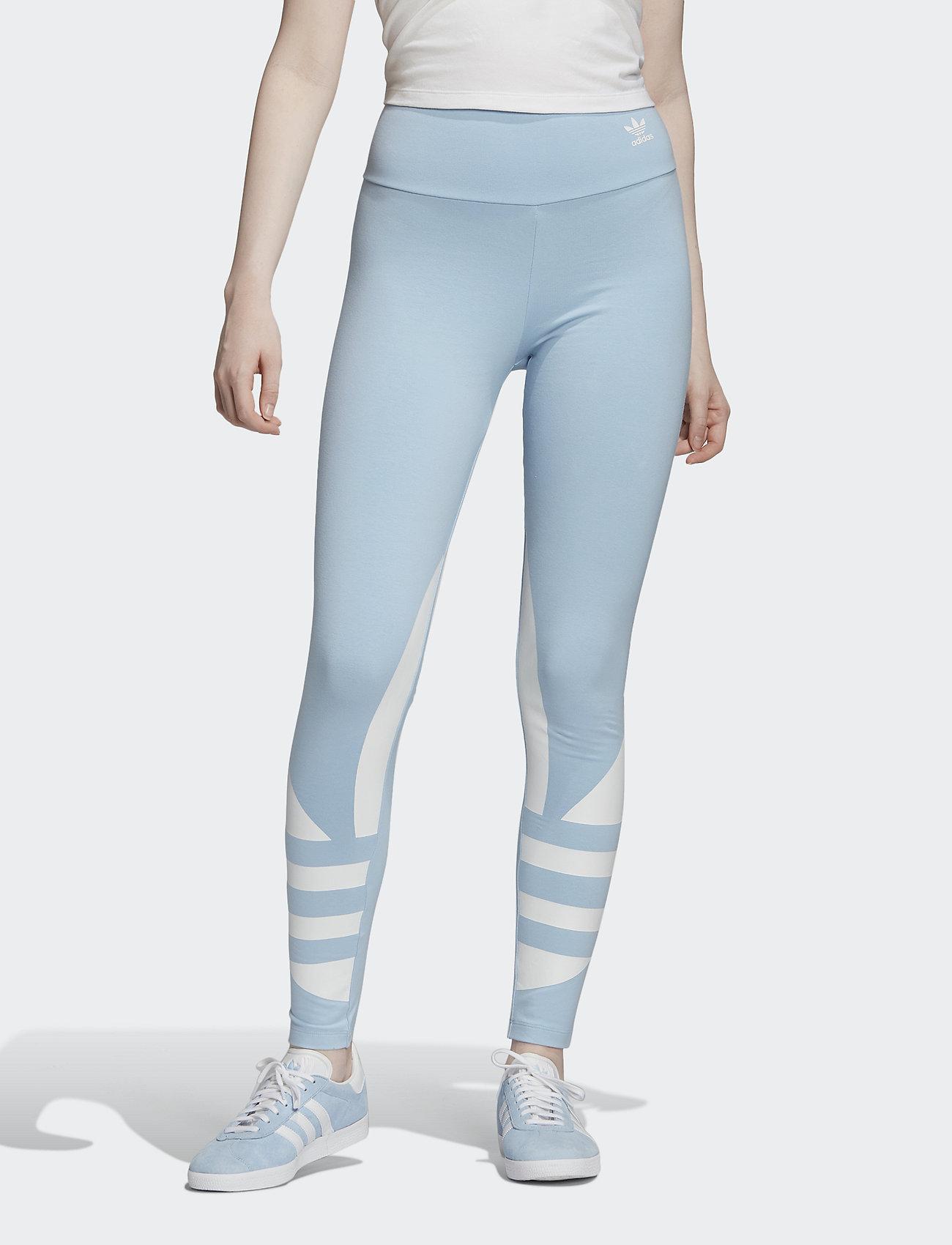 adidas Originals - LRG LOGO TIGHT - running & training tights - clesky/white - 0