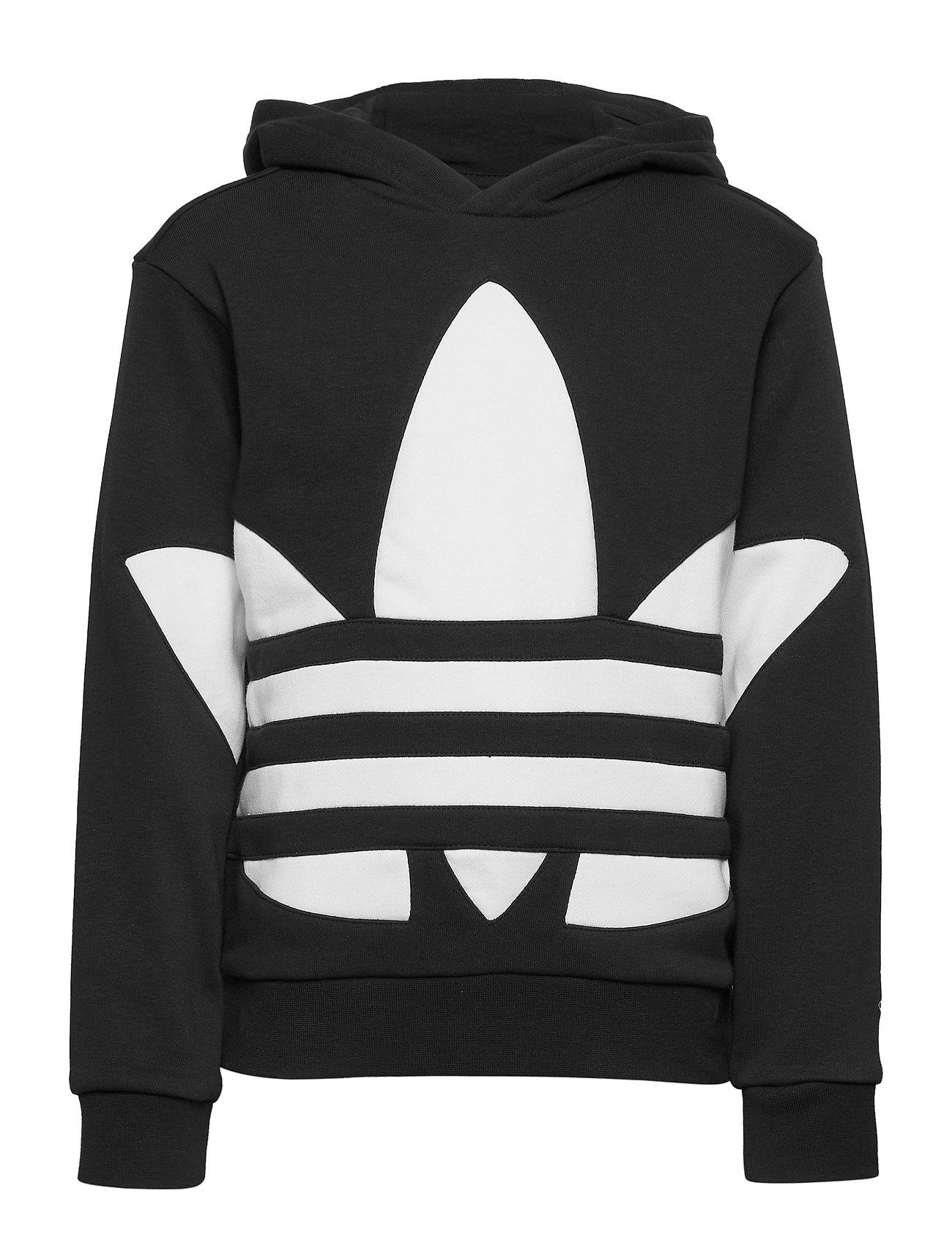 adidas Originals BG TREFOIL HOOD - BLACK/WHITE
