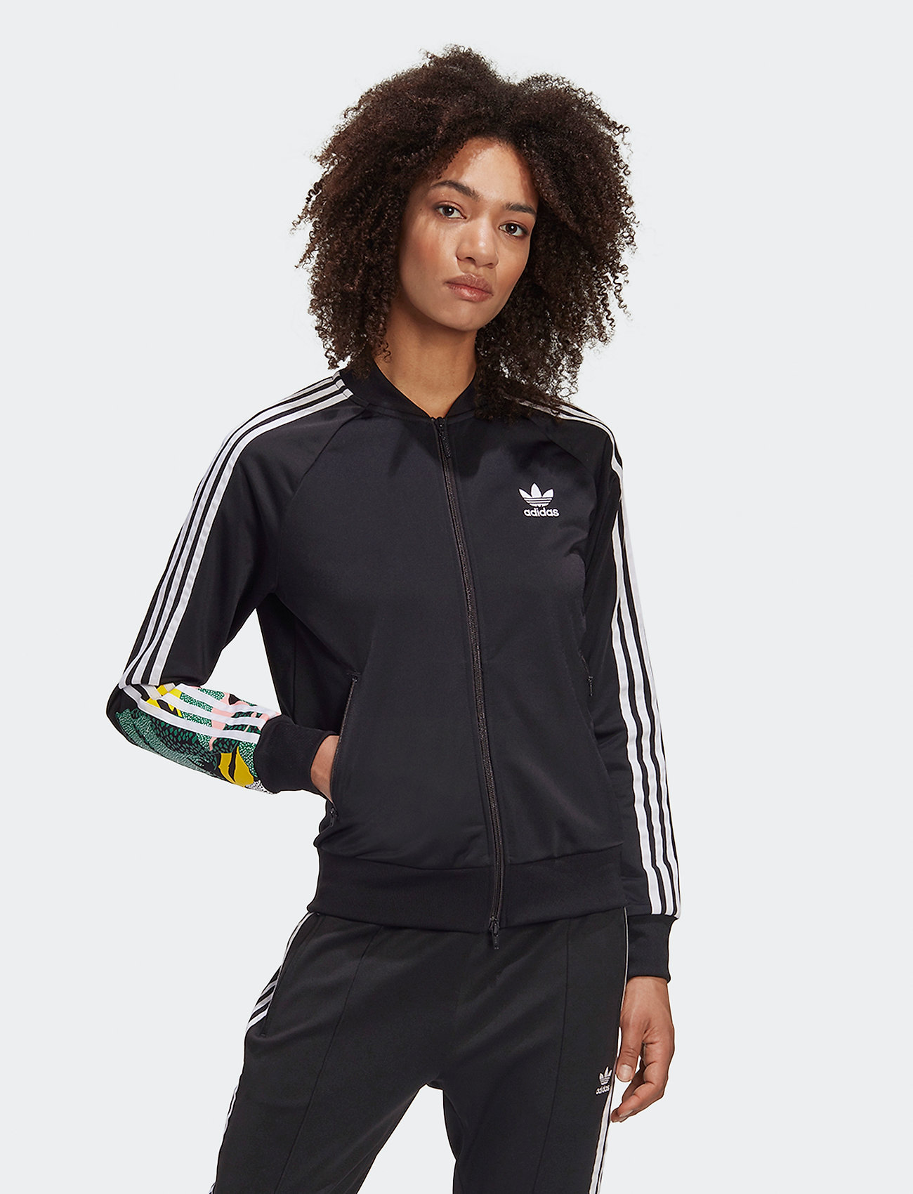 adidas Originals - TRACKTOP - svetarit - black - 0