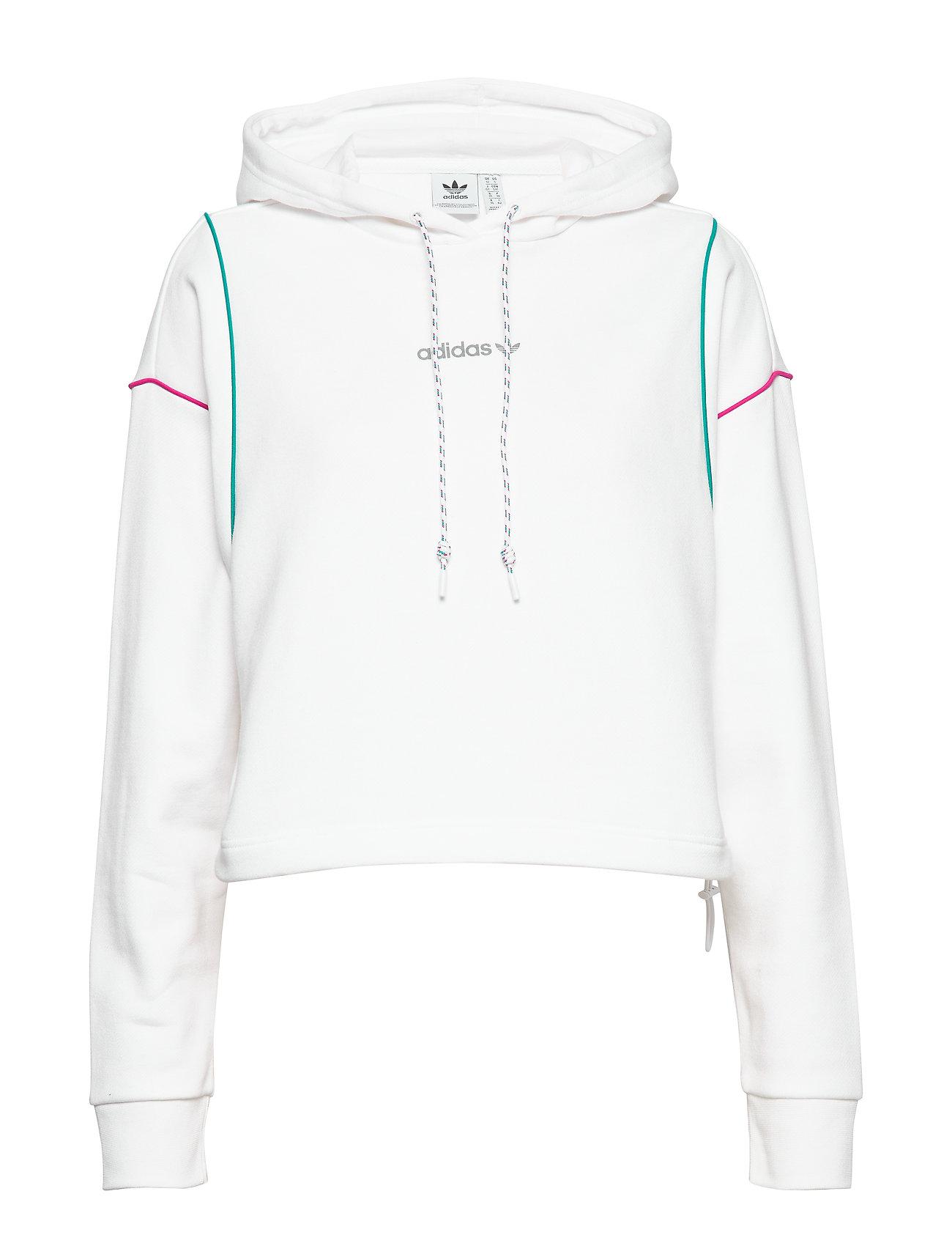 adidas Originals CROPPED HOODIE - WHITE