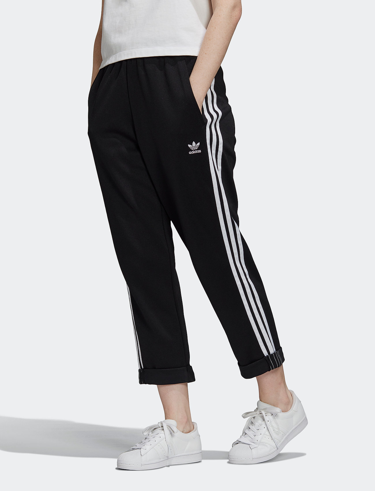 adidas Originals - Primeblue Relaxed Boyfriend Pants W - trainingsbroek - black - 0