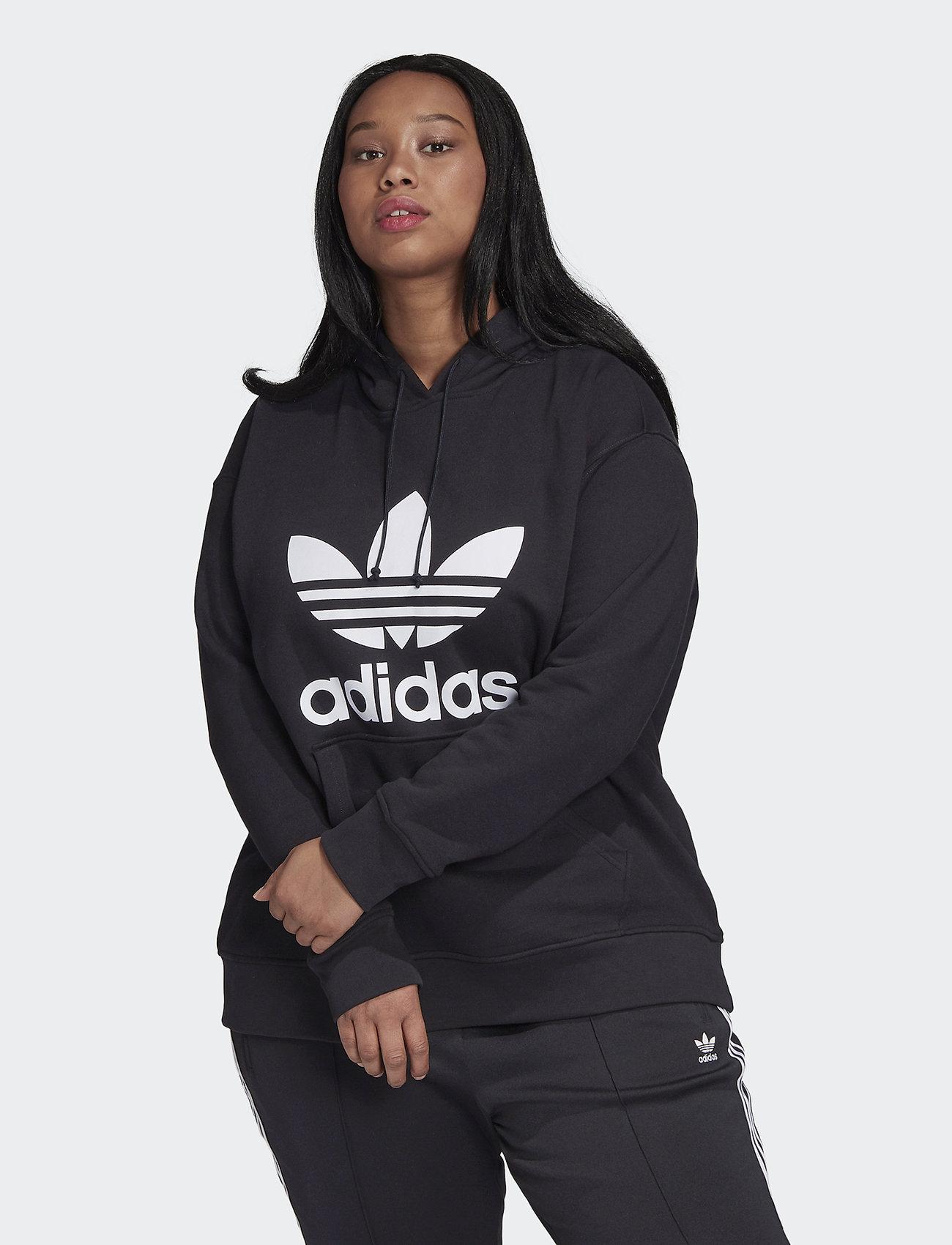 adidas Originals - TRF HOODIE - hupparit - black/white - 0