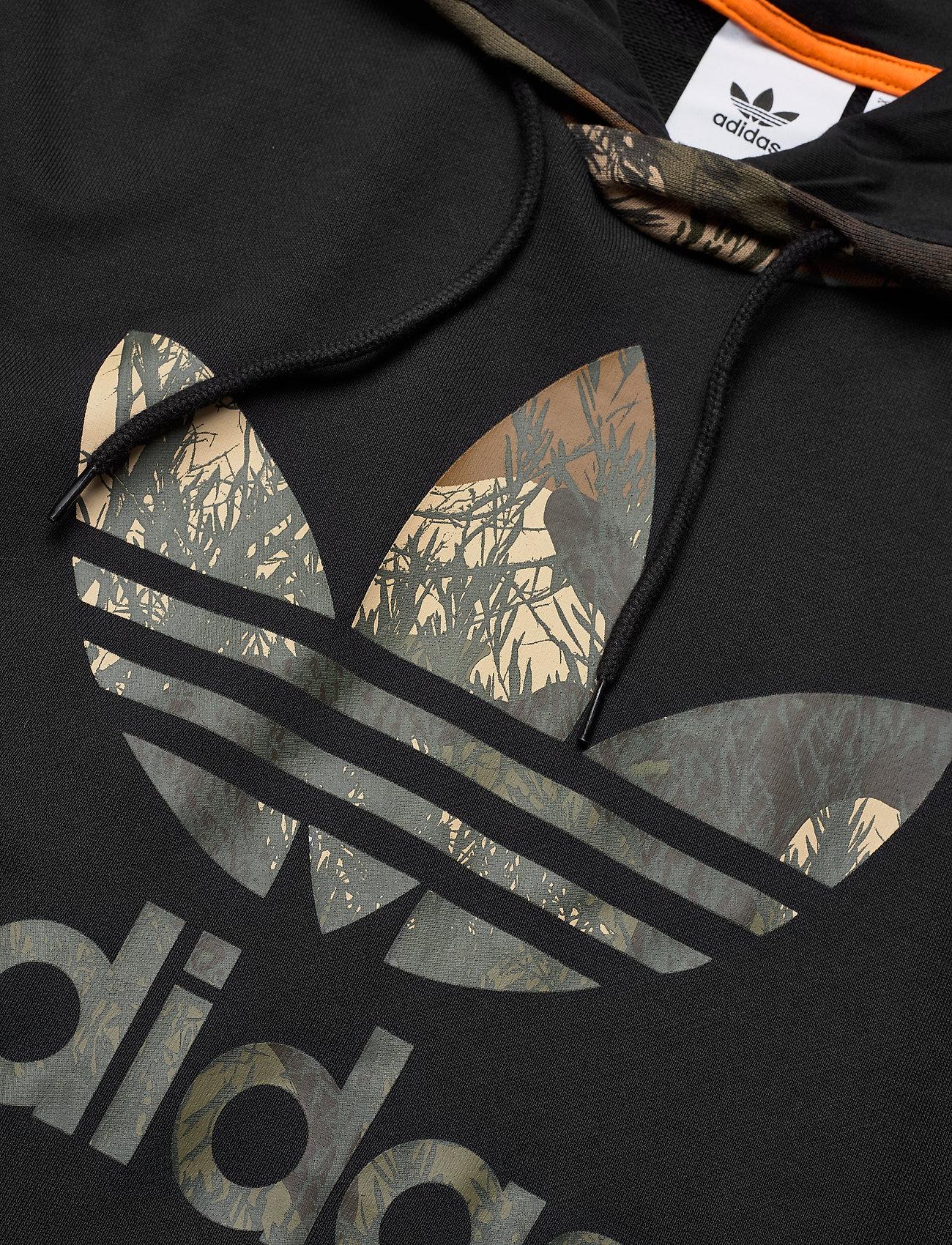 adidas Originals CAMO BLOCK HDY - Sweatshirts BLACK - Menn Klær