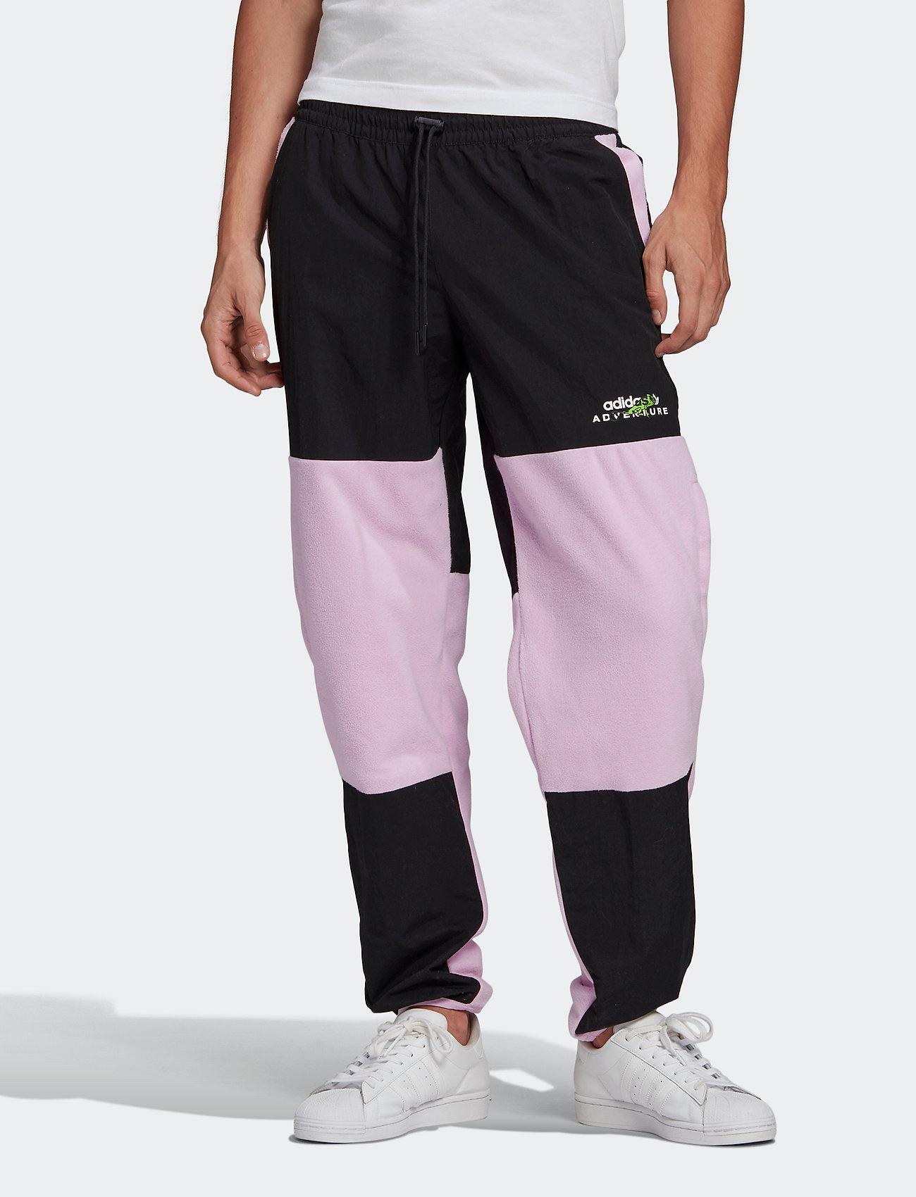 adidas Originals - Adventure Polar Fleece Colorblock Sweat Pants - treenihousut - clelil/black - 0