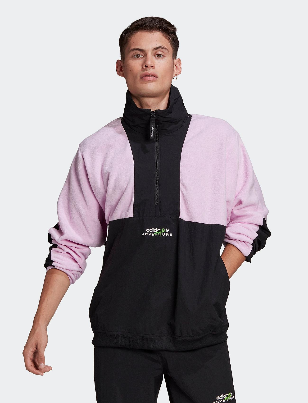 adidas Originals - Adventure Polar Fleece Colorblock Half-Zip Jacket - podstawowe bluzy - clelil/black - 0