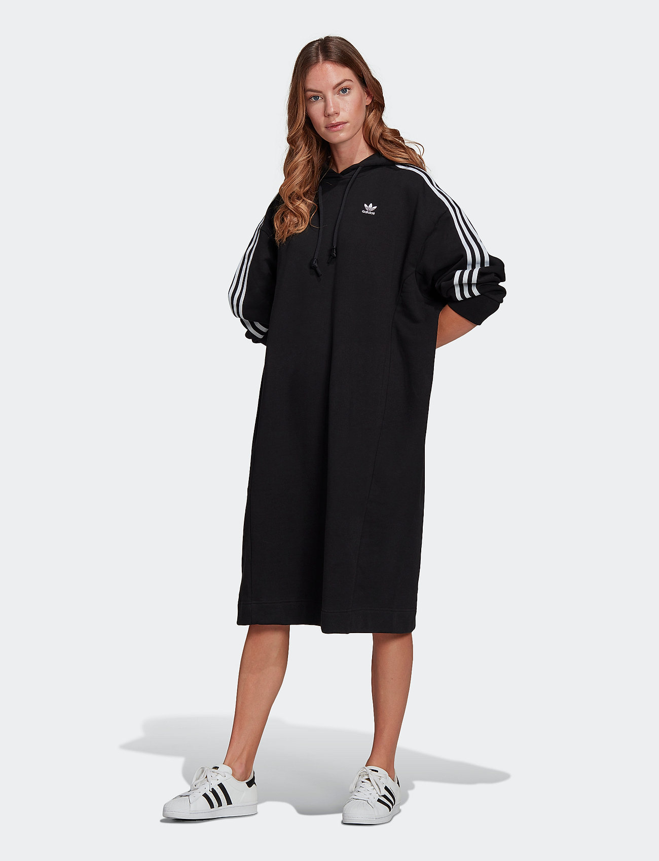 adidas Originals - Adicolor Classics Hoodie Dress W - alledaagse jurken - black - 0