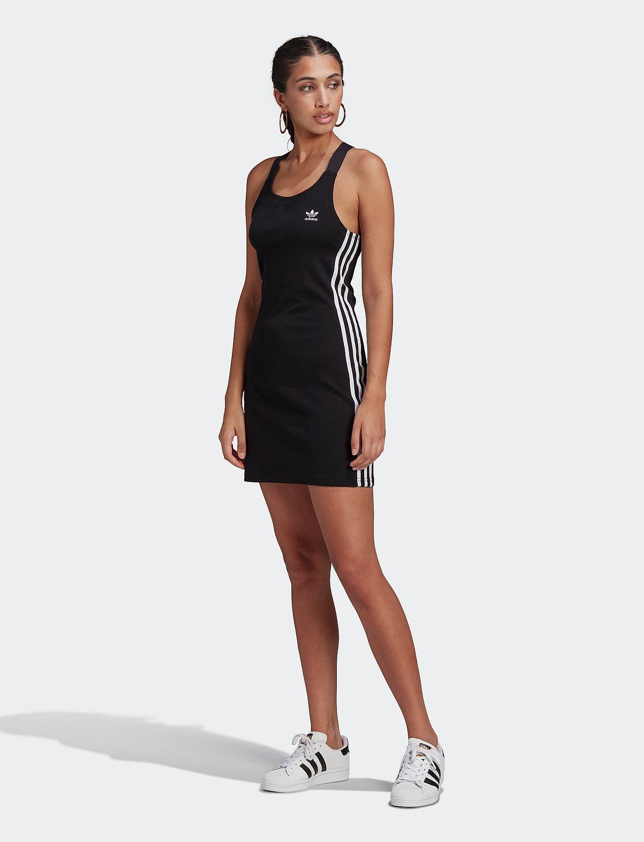 adidas Originals - Adicolor Classics Racerback Dress W - bodycon jurken - black - 0
