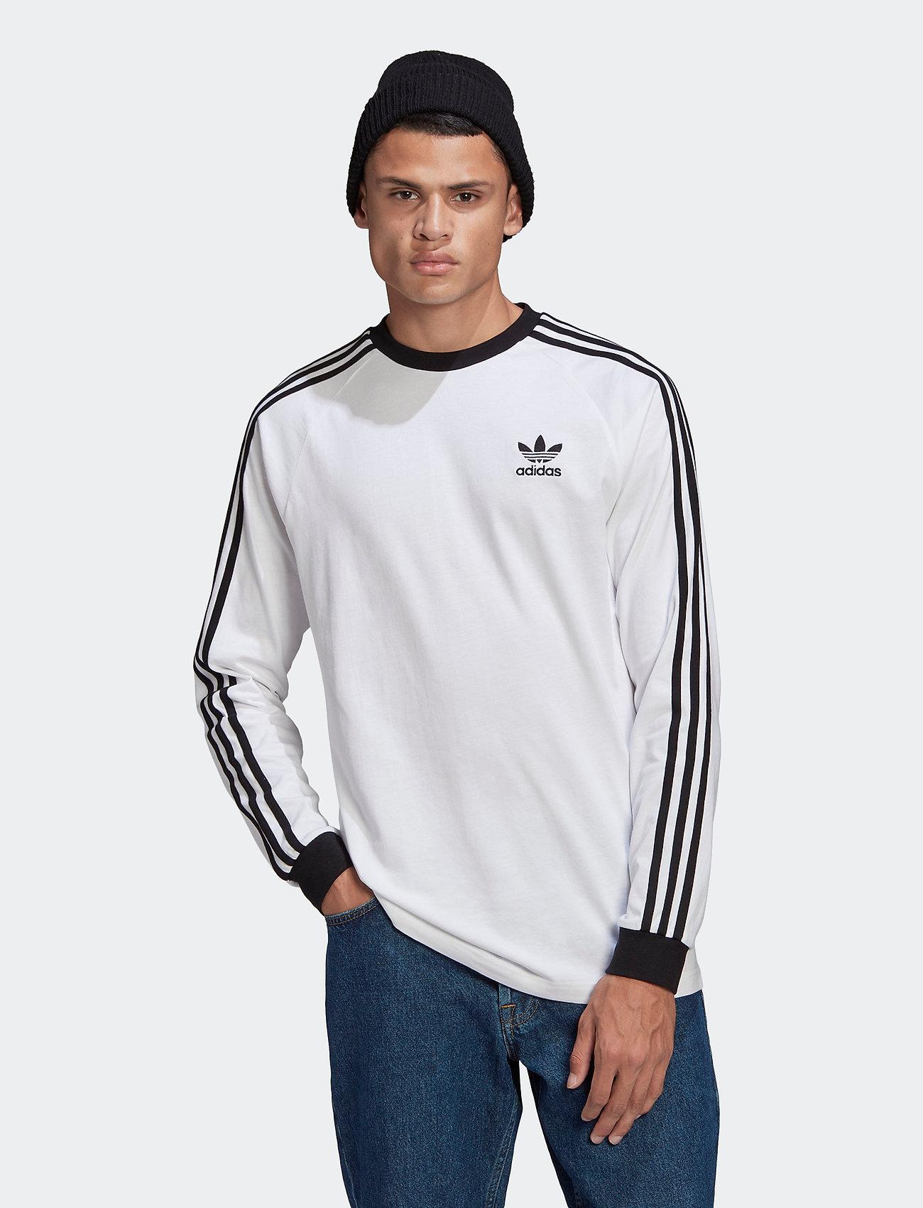 adidas Originals - Adicolor Classics 3-Stripes Long Sleeve T-Shirt - langermede topper - white - 0