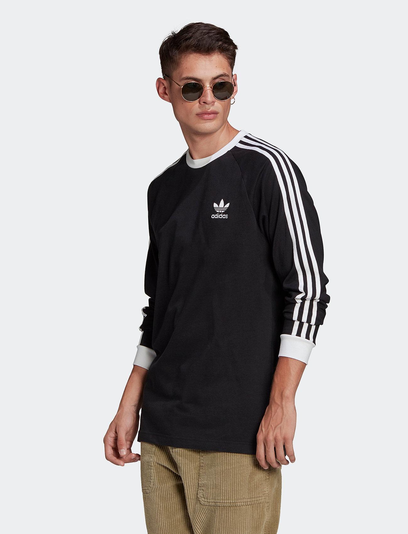 adidas Originals - Adicolor Classics 3-Stripes Long Sleeve T-Shirt - langermede topper - black - 0