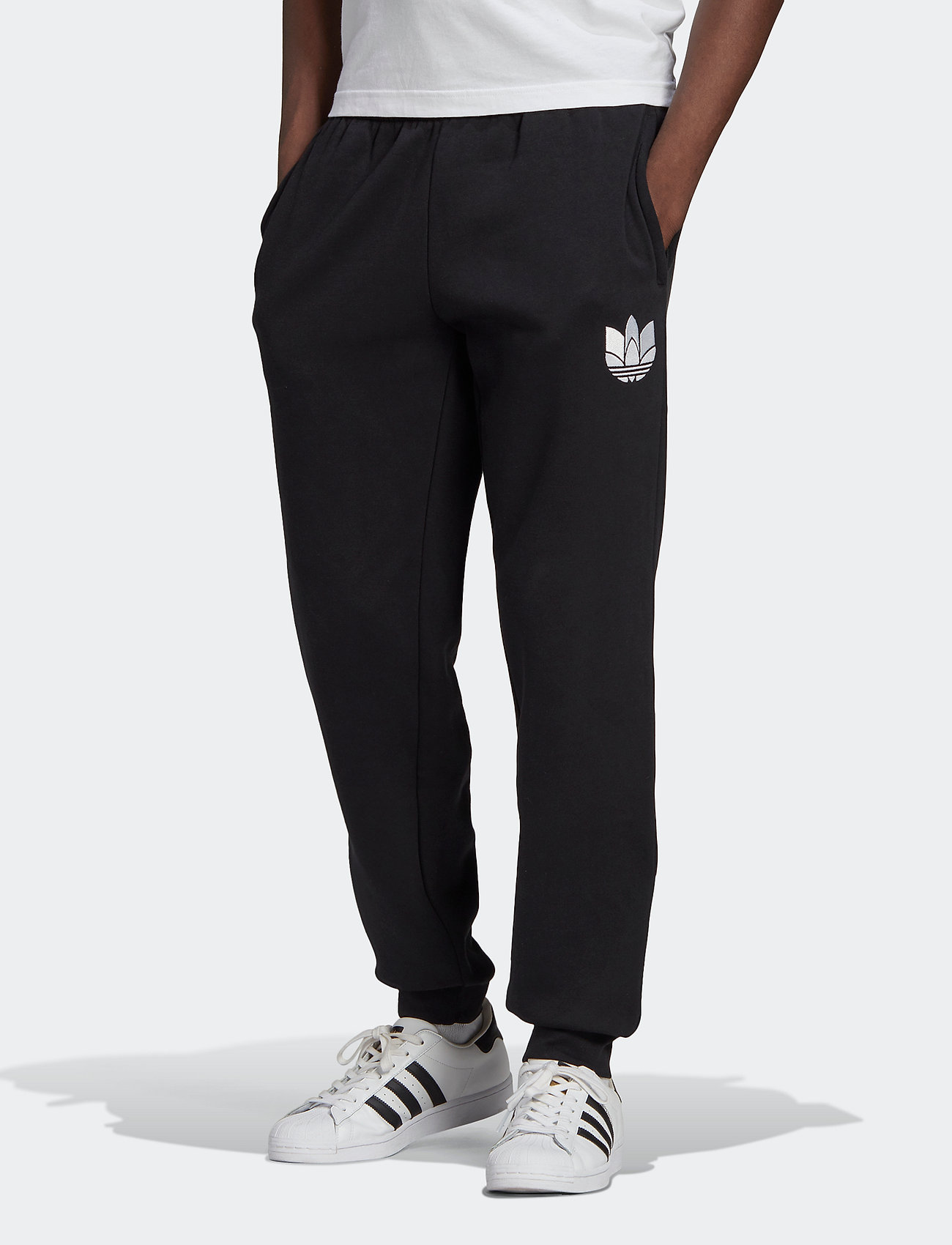 adidas Originals - Adicolor 3D Trefoil Graphic Sweat Pants - bukser - black - 0