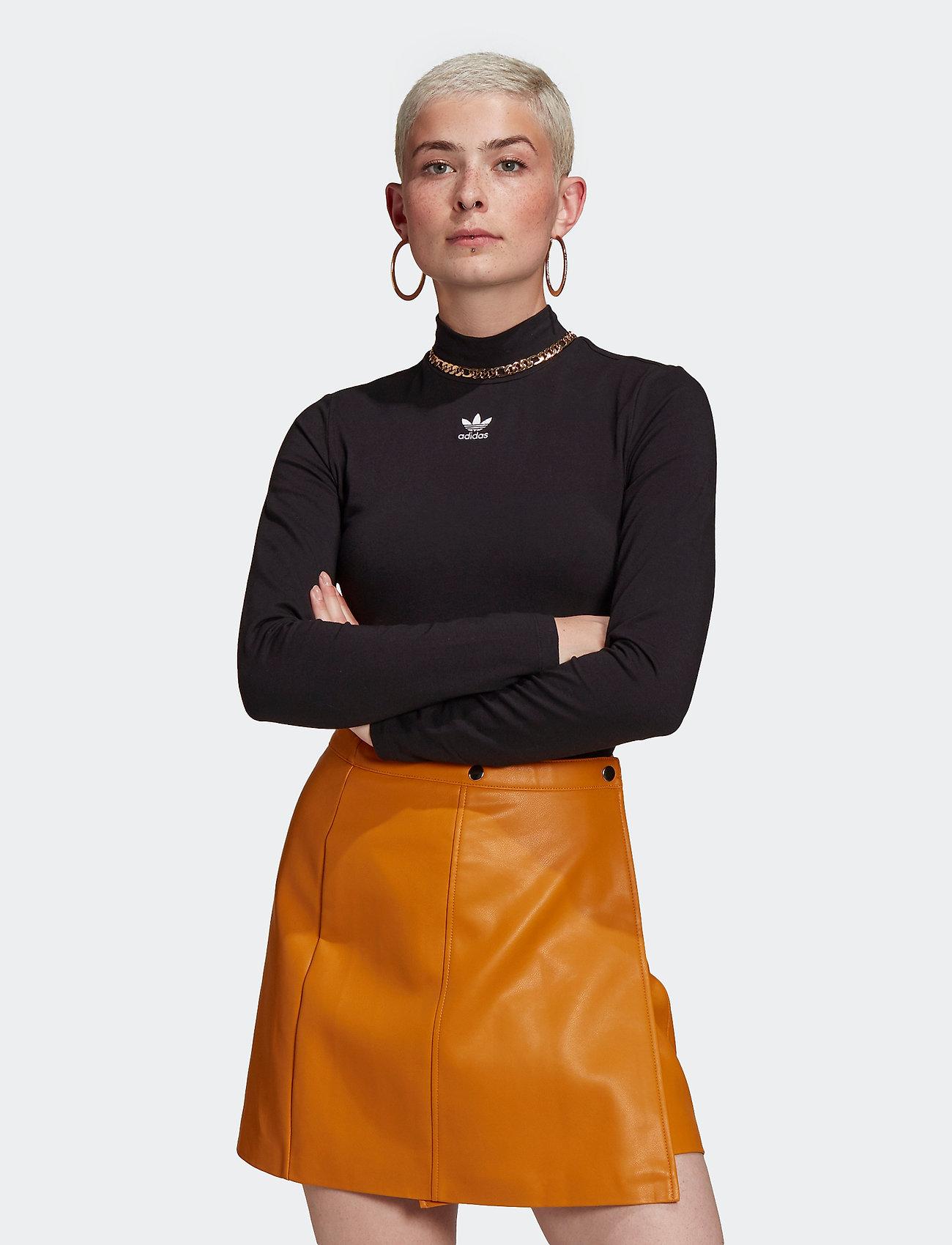 adidas Originals - Adicolor Essentials Long Sleeve T-Shirt W - langærmede toppe - black - 0