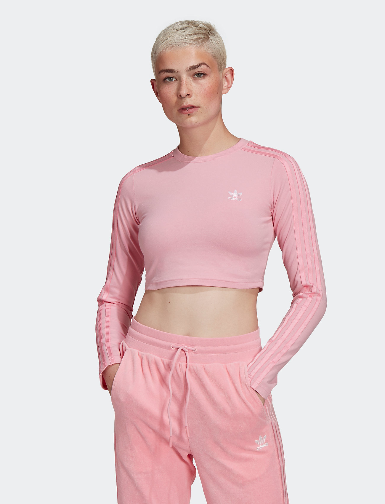 adidas Originals - Crop Long Sleeve T-Shirt W - topjes met lange mouwen - ltpink - 0