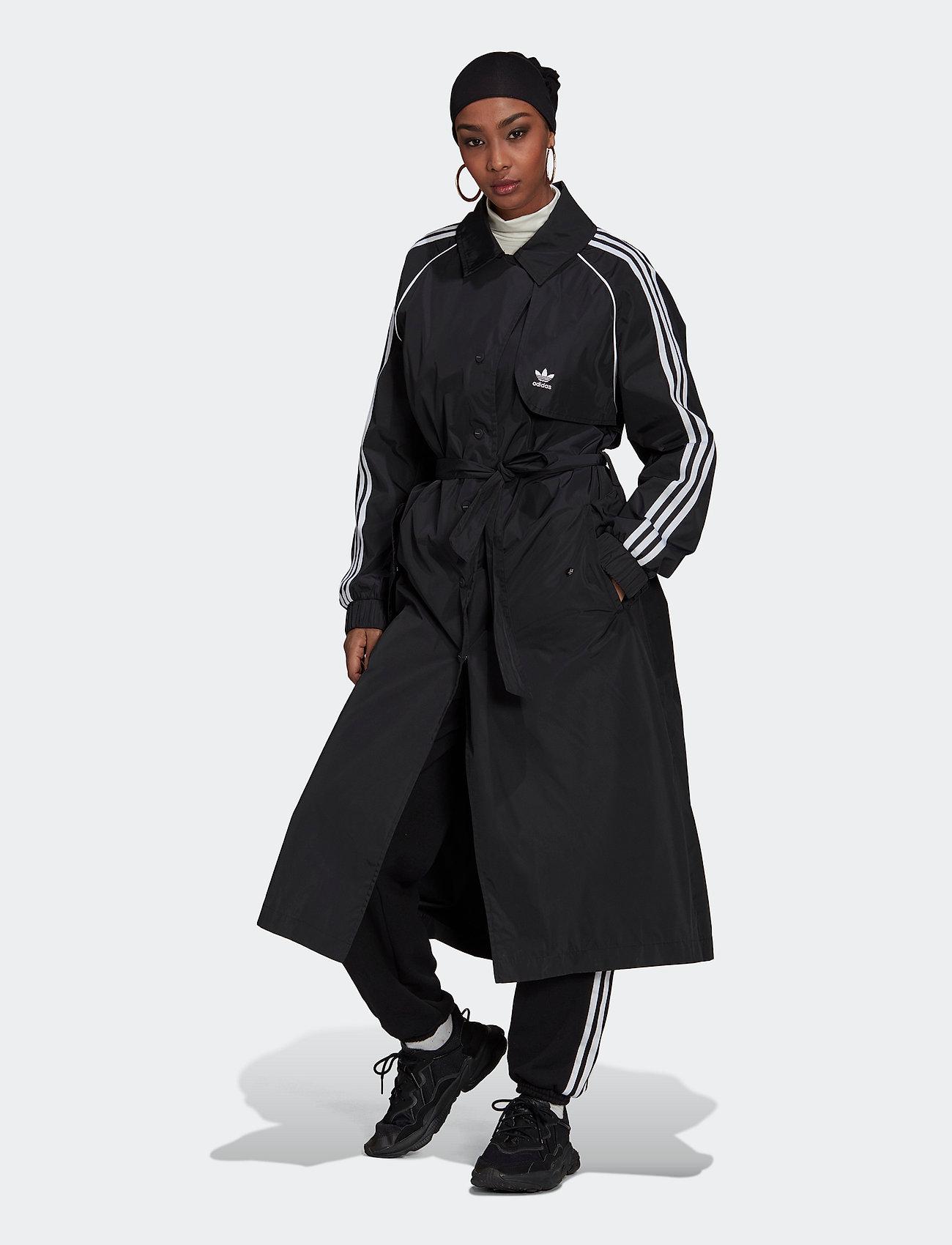 adidas Originals - Adicolor Classics Trench Coat W - parkacoats - black - 0