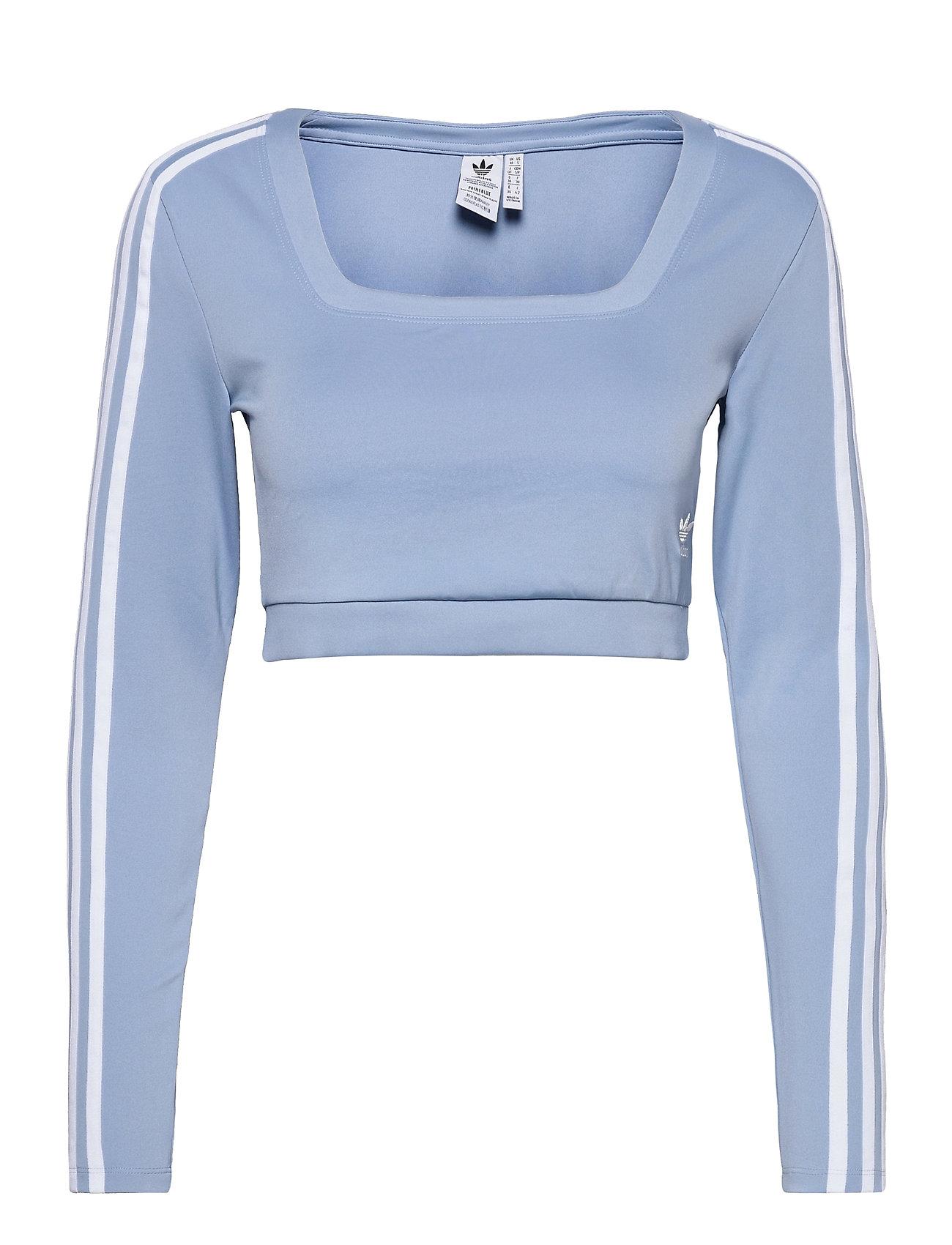 Adicolor Classics Long Sleeve Tee W Crop Tops Blå Adidas Originals