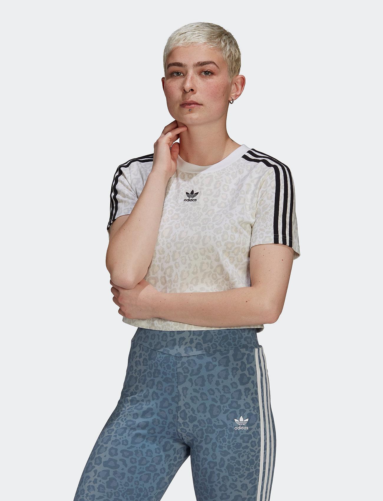 adidas Originals - Cropped T-Shirt W - crop tops - multco/white/talc - 0