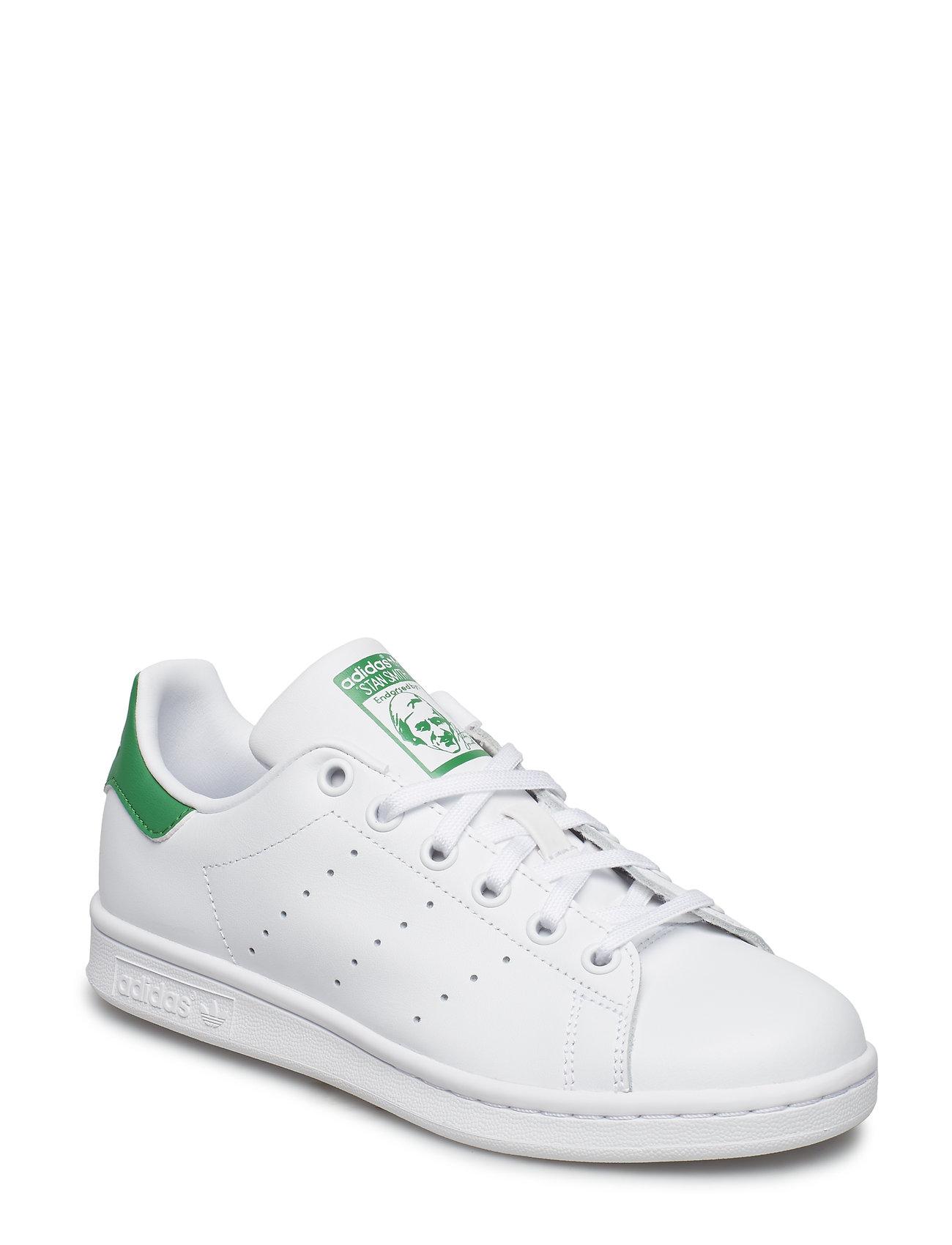 adidas Originals STAN SMITH J - FTWWHT/FTWWHT/GREEN