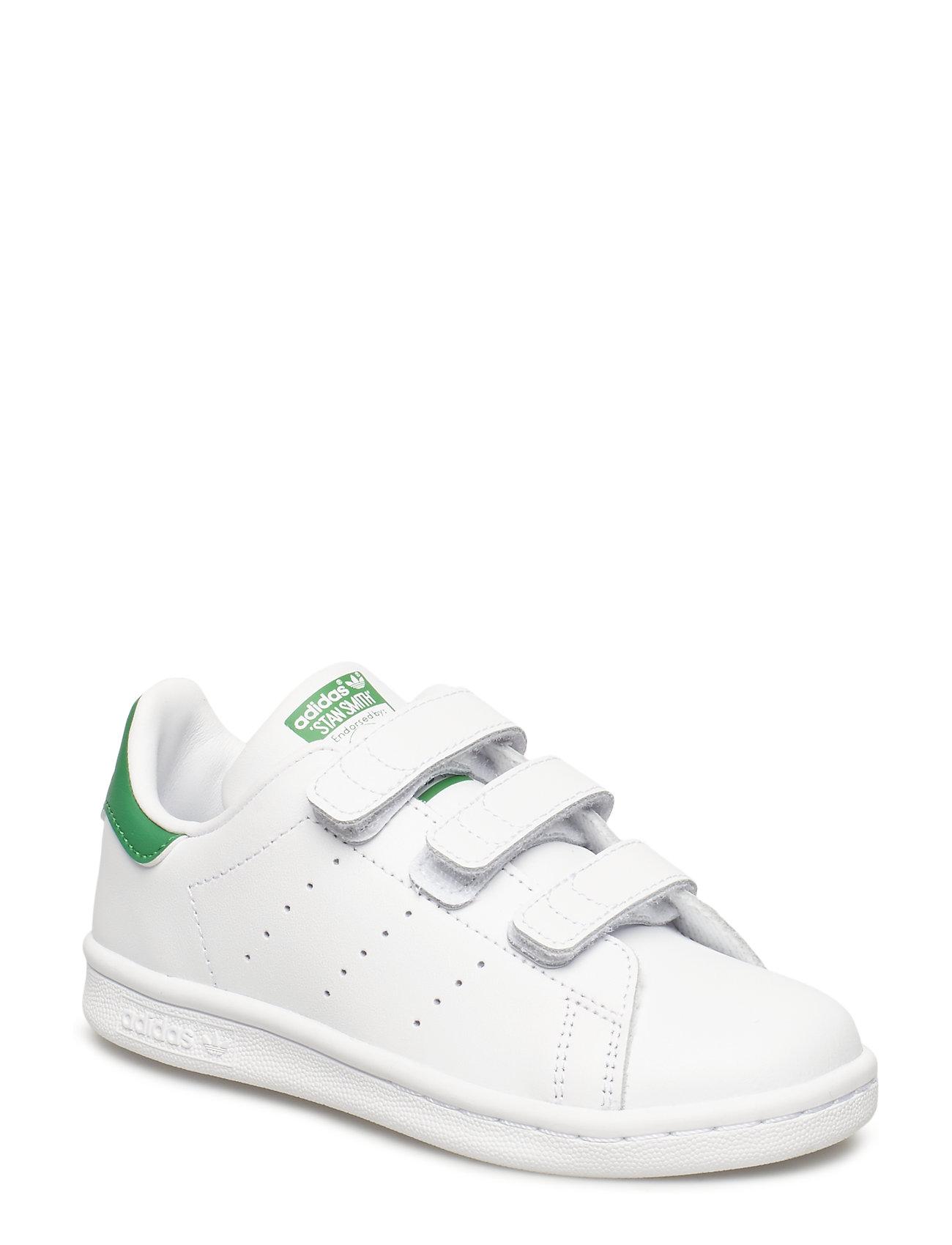 adidas Originals STAN SMITH CF C - FTWWHT/FTWWHT/GREEN