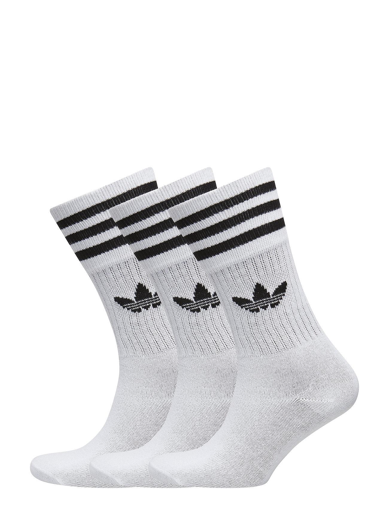 adidas Originals SOLID CREW SOCK - WHITE/BLACK