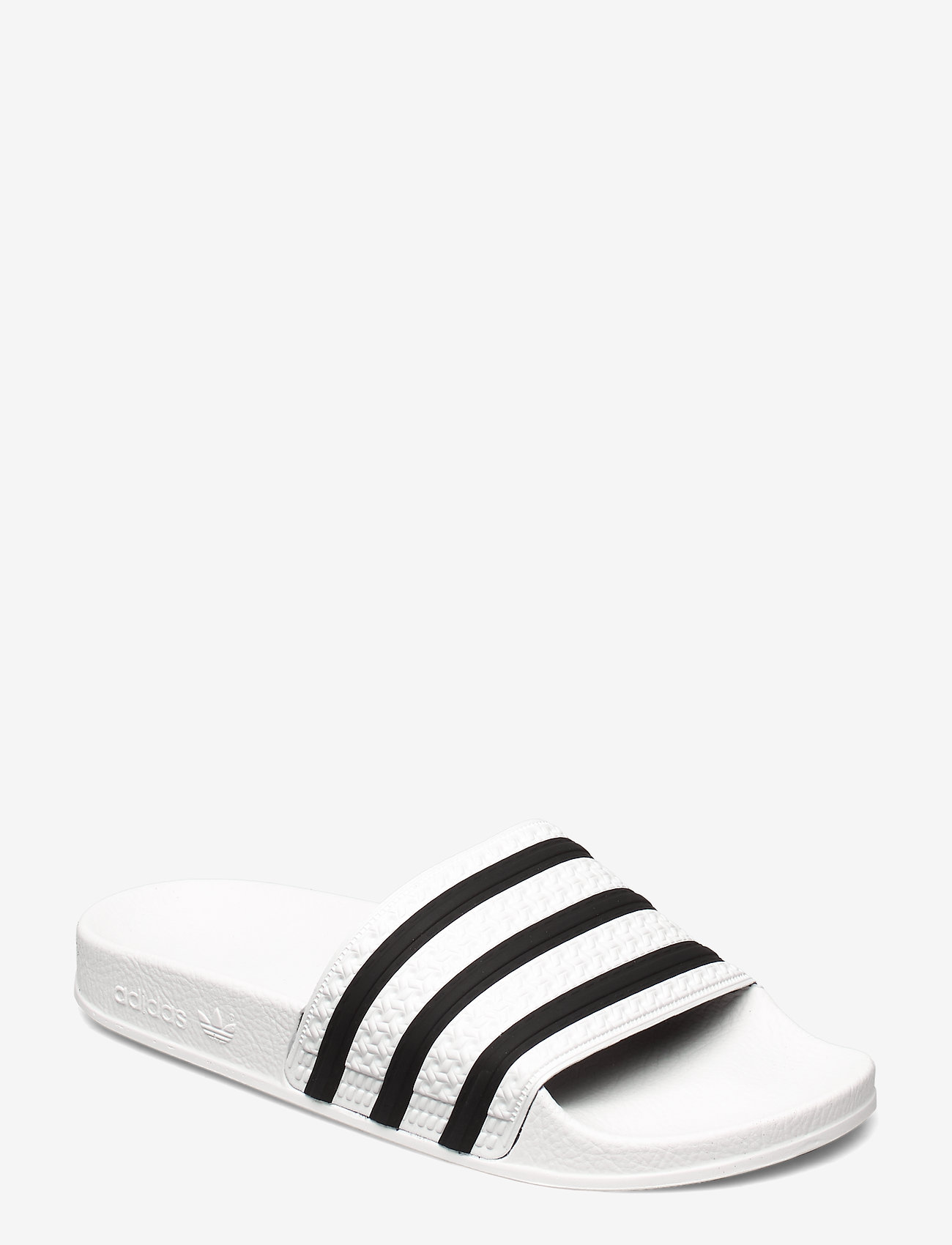 adidas Originals - Adilette Slides - tennarit - white/cblack/white - 0