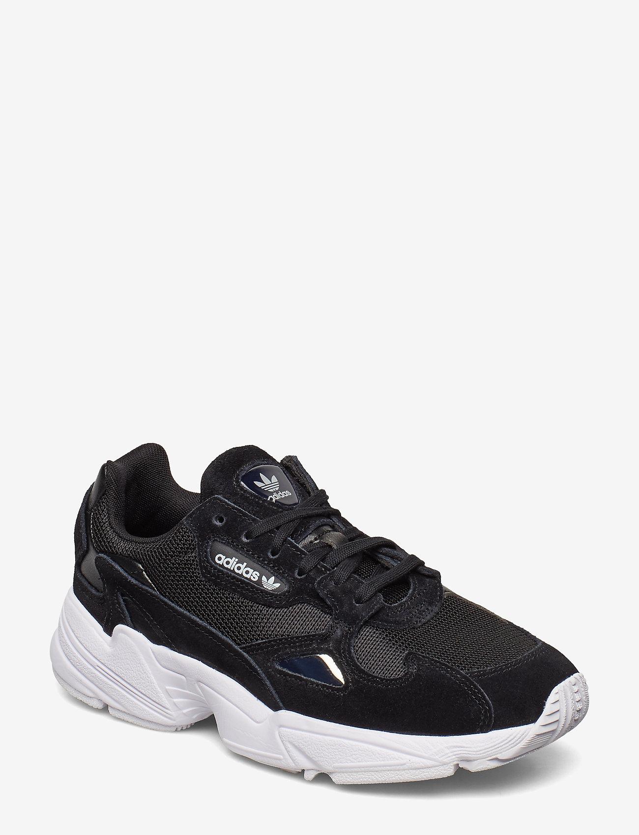 adidas Originals - FALCON W - chunky sneakers - cblack/cblack/ftwwht - 0
