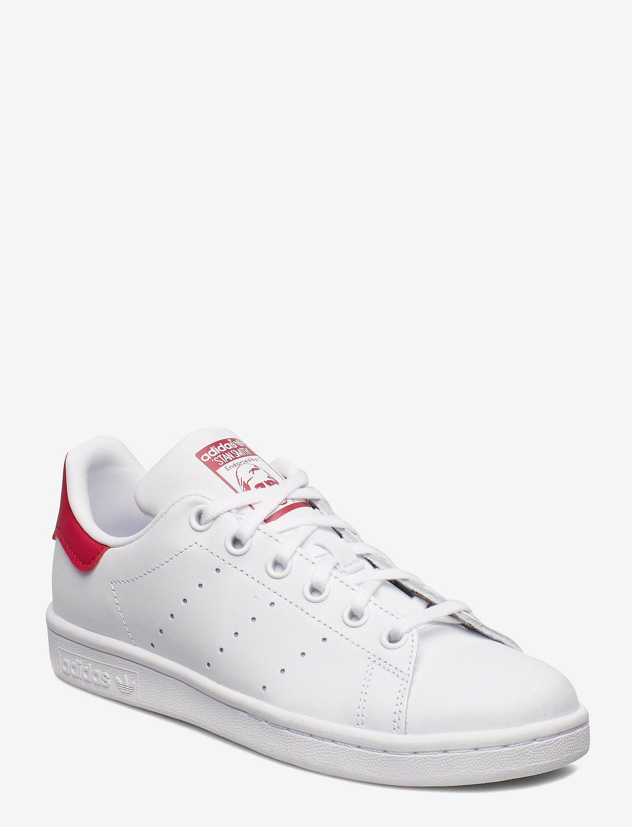 adidas Originals - STAN SMITH J - low tops - ftwwht/ftwwht/bopink - 0